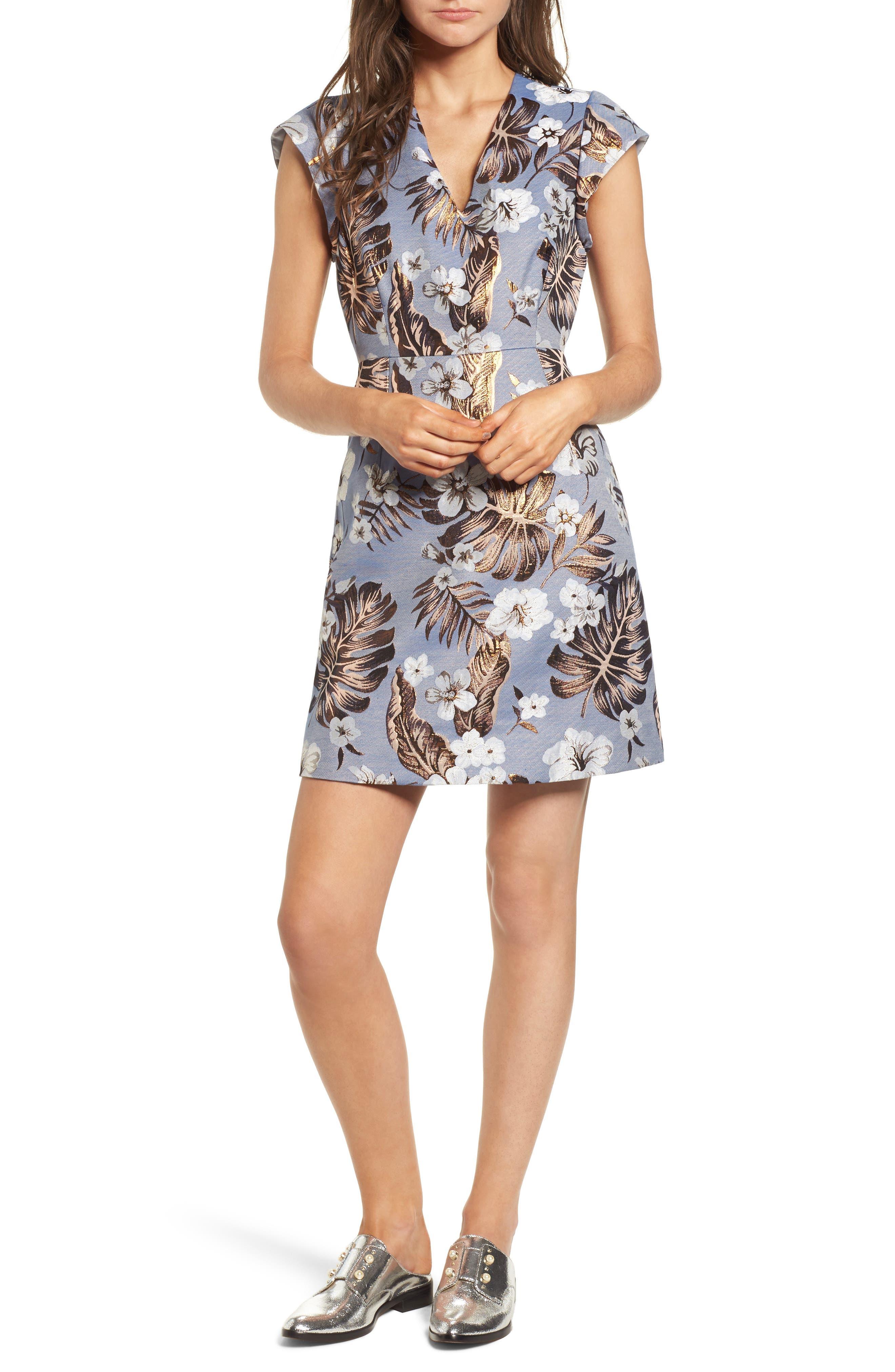 Solaire Sheath Dress,                             Main thumbnail 1, color,                             Denim