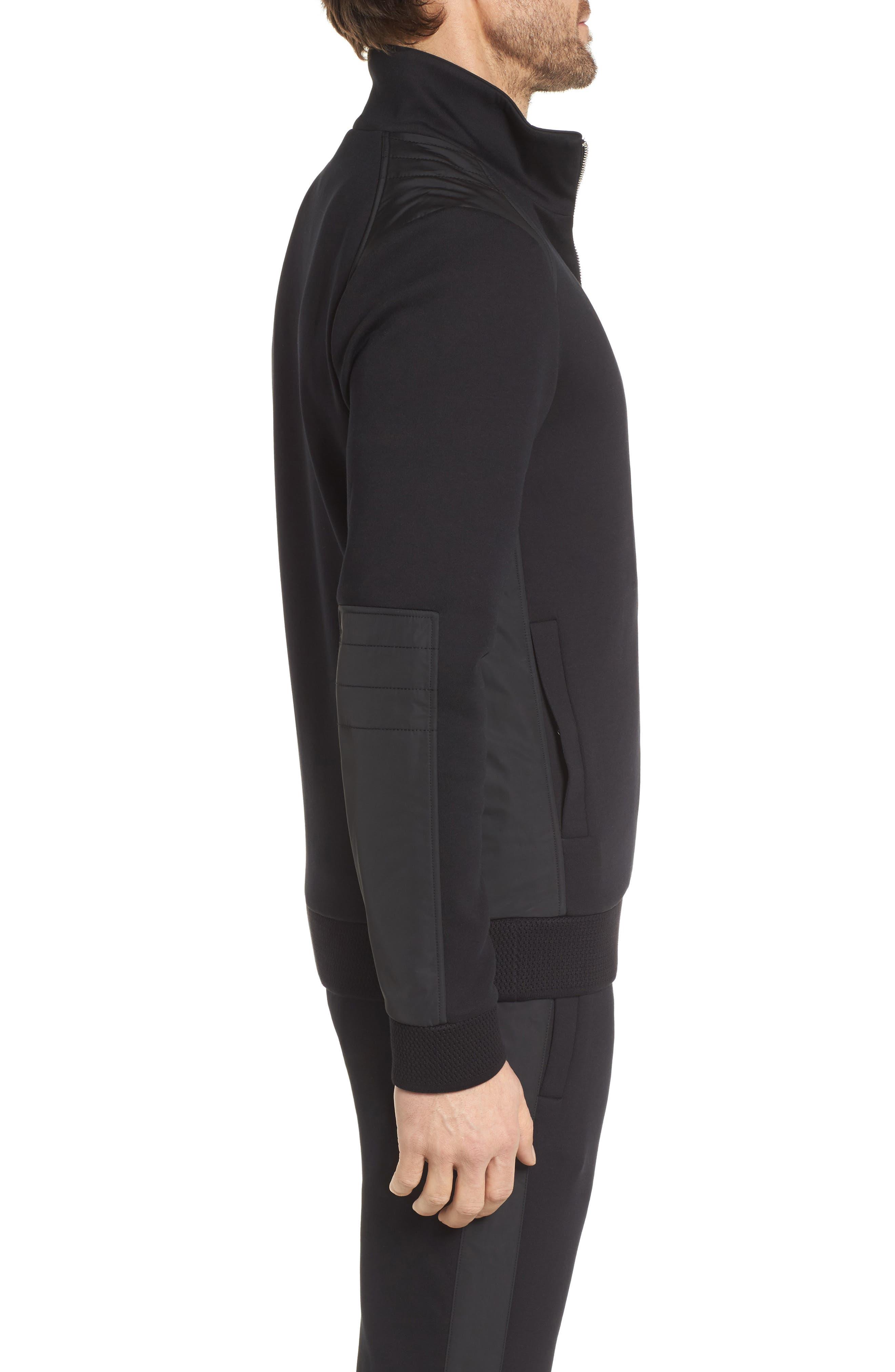 Soule Mercedes Slim Fit Zip Jacket,                             Alternate thumbnail 3, color,                             Black