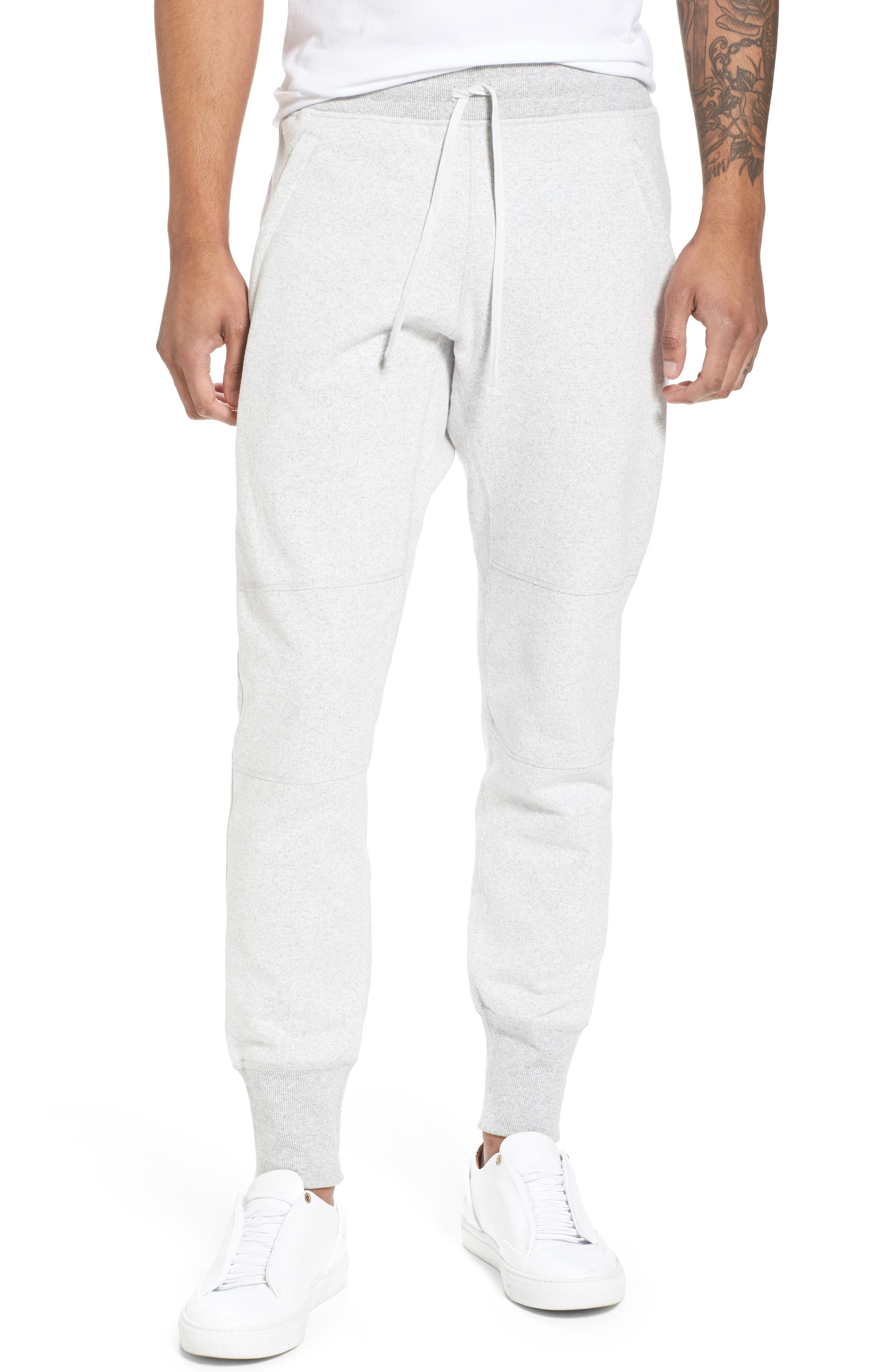 Slim Fit Heavyweight Sweatpants,                         Main,                         color, Chalk