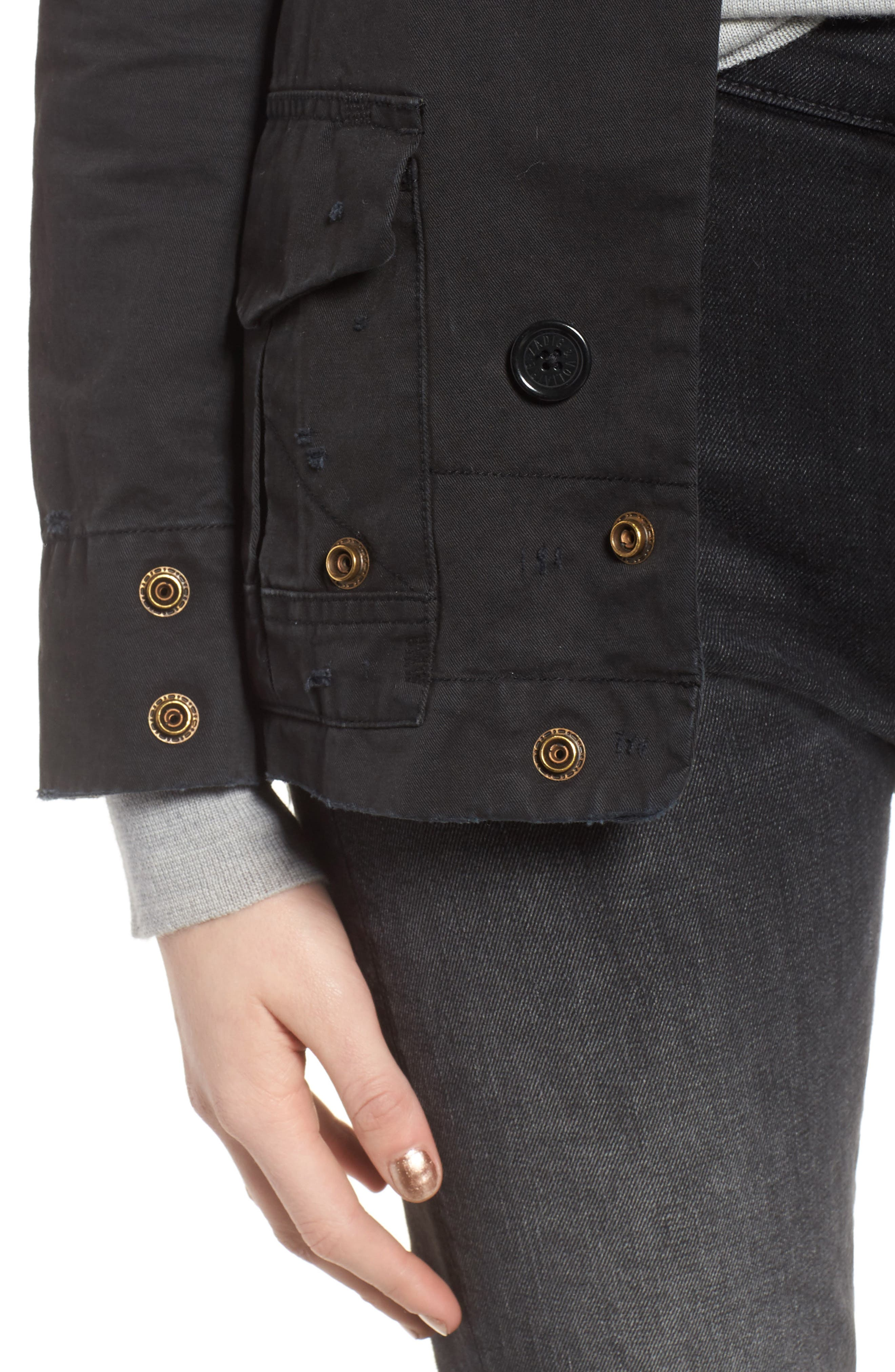 Vladimir Grunge Jacket,                             Alternate thumbnail 4, color,                             Black