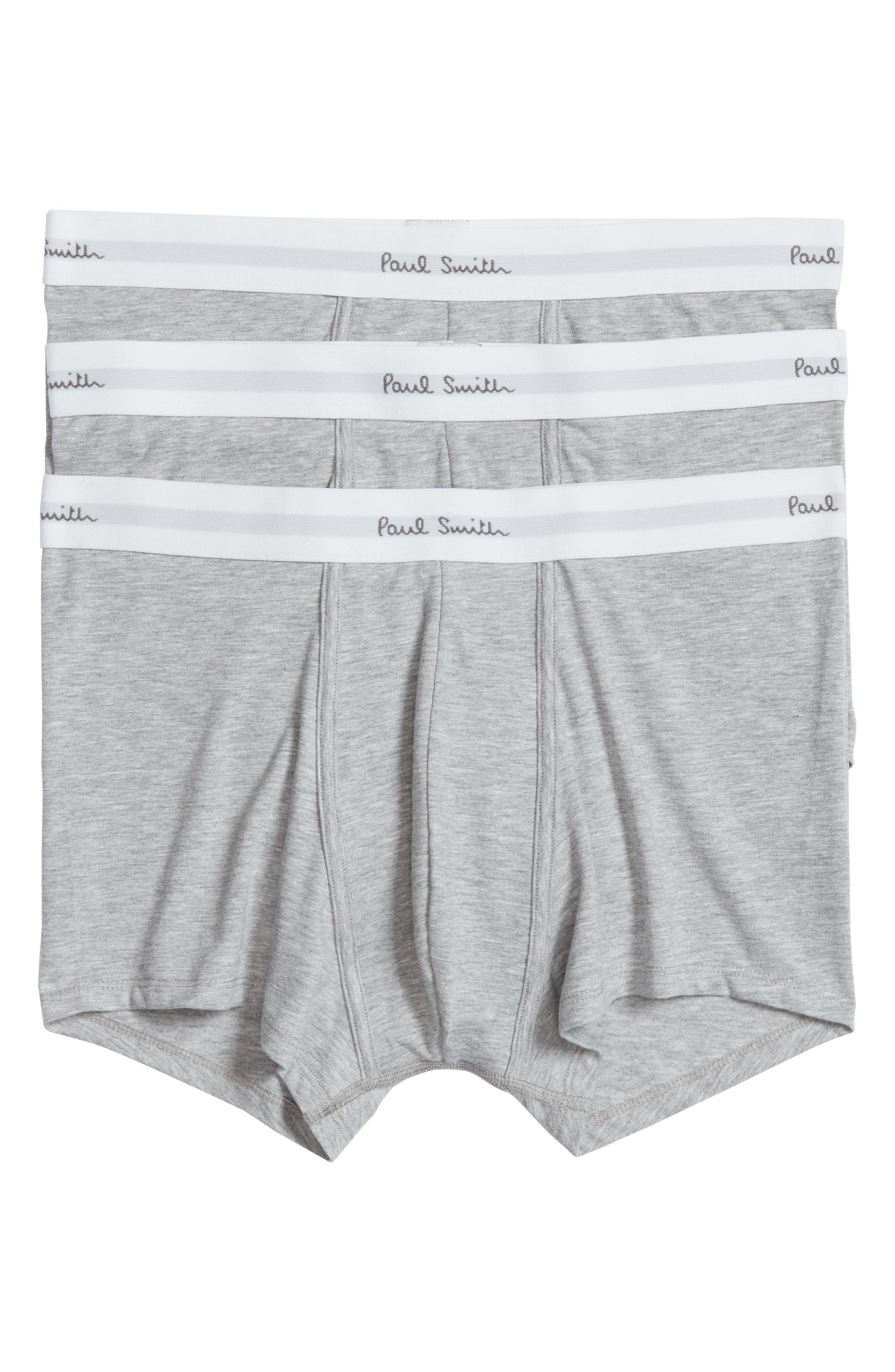 3-Pack Square Cut Trunks,                             Main thumbnail 1, color,                             Grey
