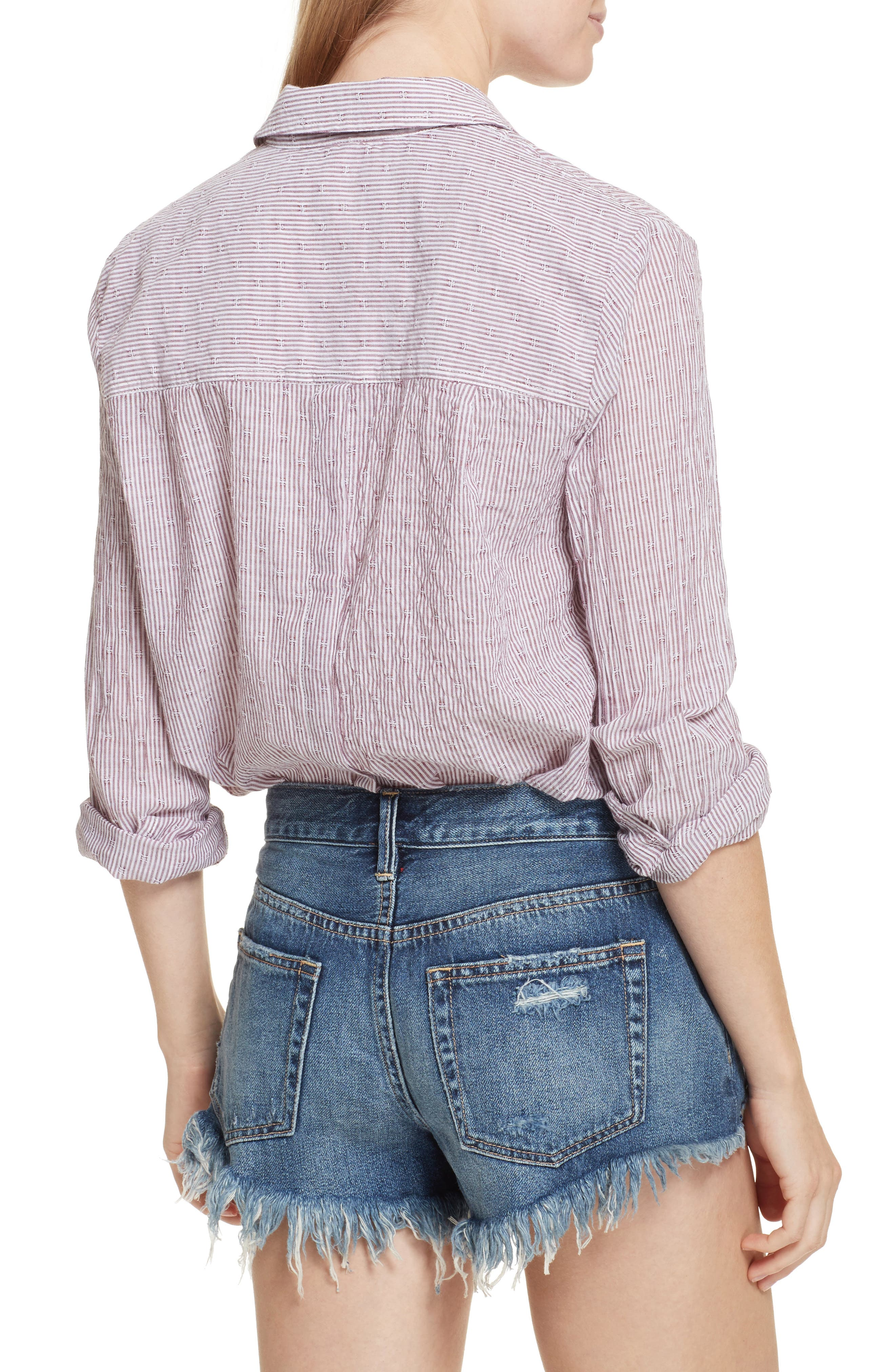 Alternate Image 2  - Free People No Limits Stripe Stretch Cotton Shirt