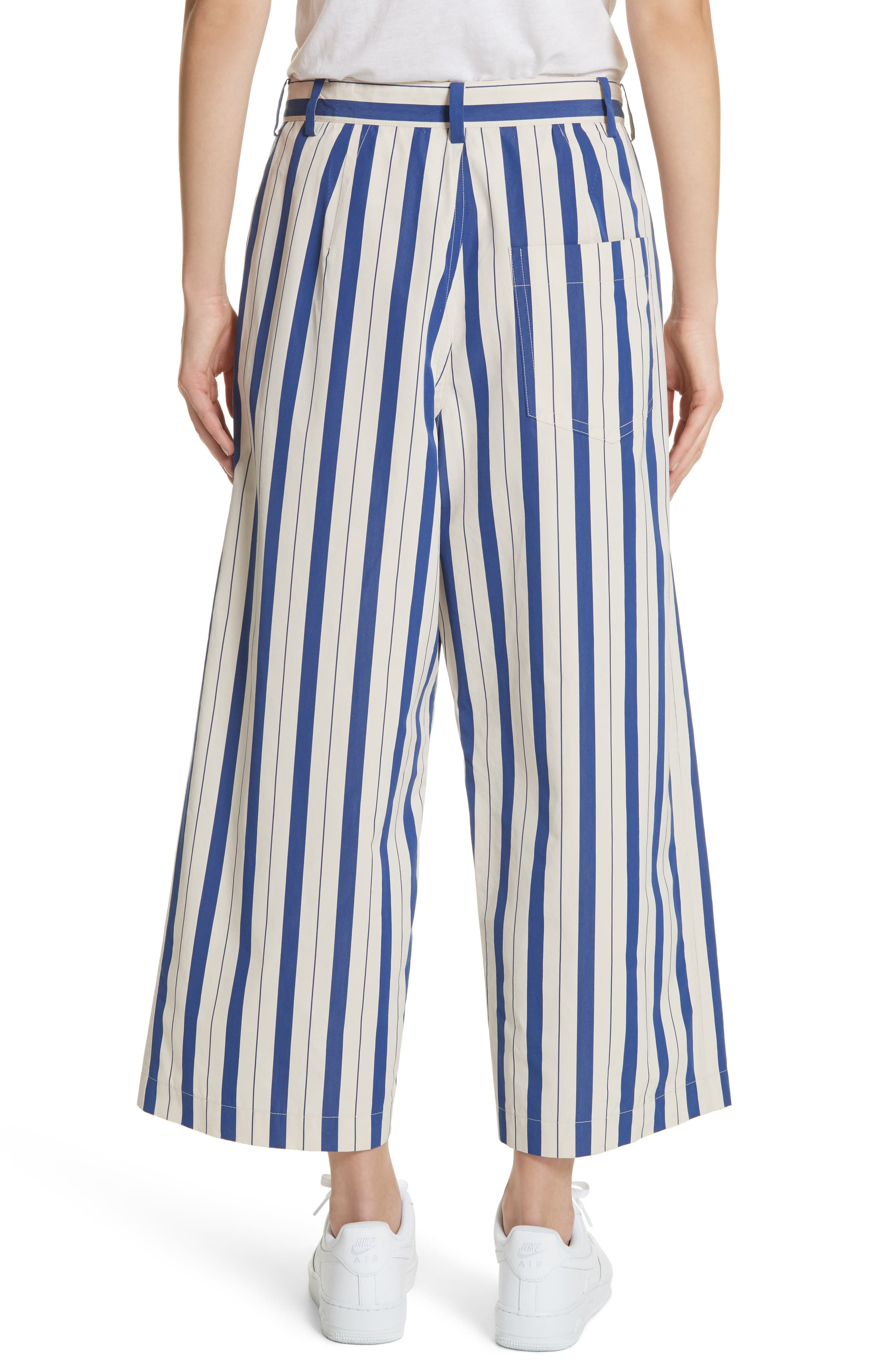 Stripe Wide Leg Pants,                             Alternate thumbnail 2, color,                             Blue Lagoon