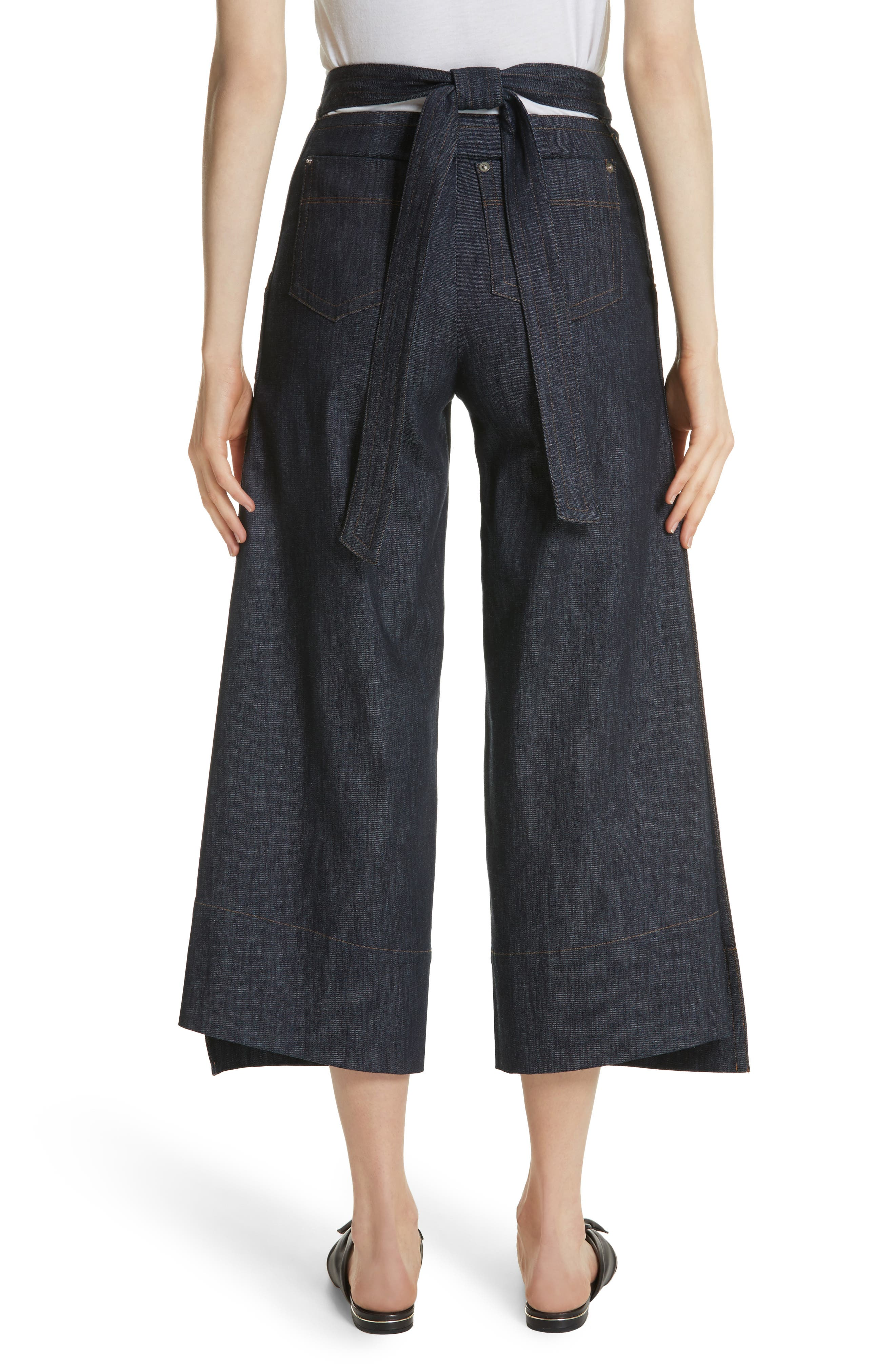 Alternate Image 3  - Yigal Azrouël Panel Front Wide Leg Crop Jeans