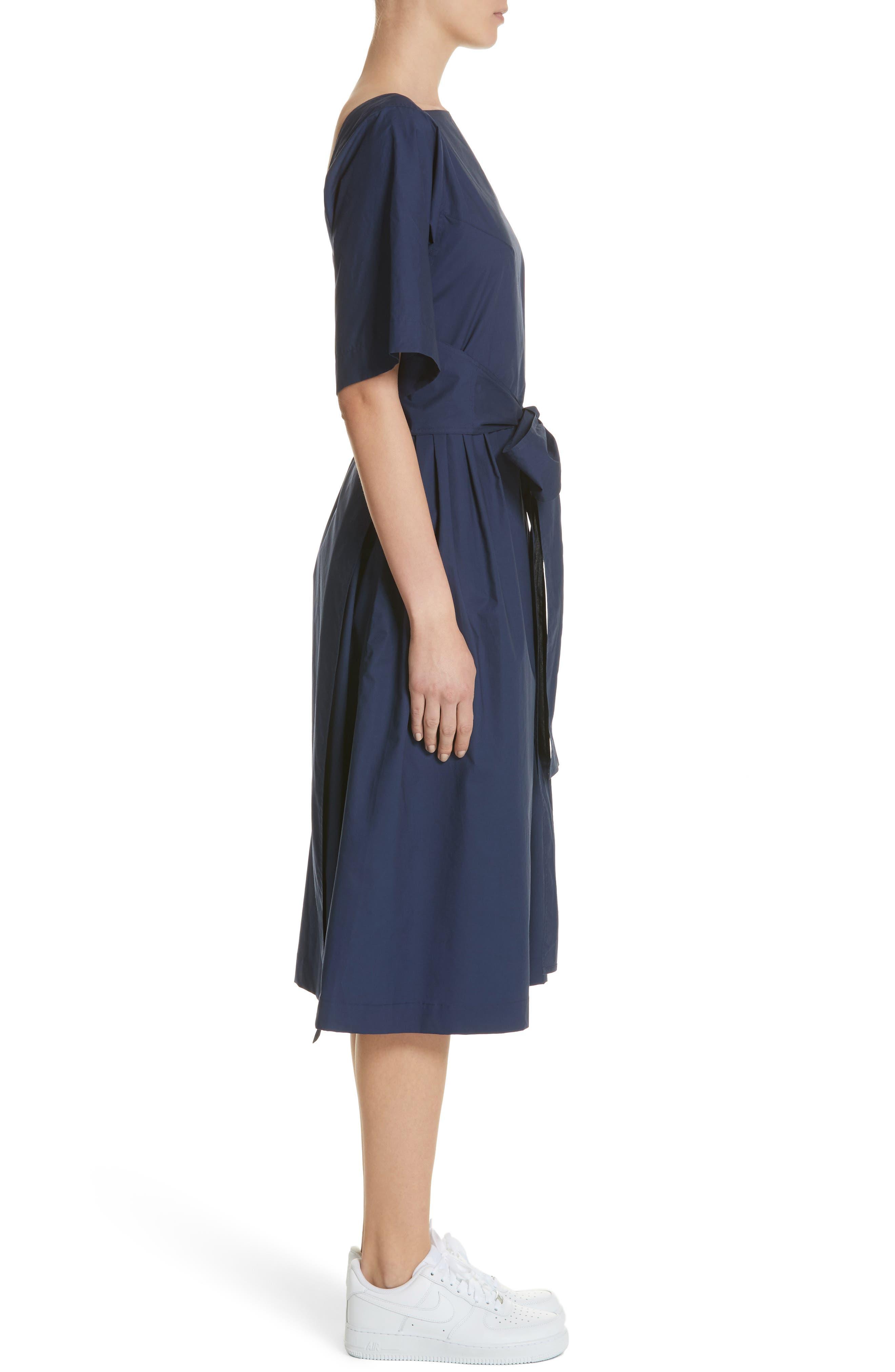 Tie Waist Dress,                             Alternate thumbnail 3, color,                             Matelot