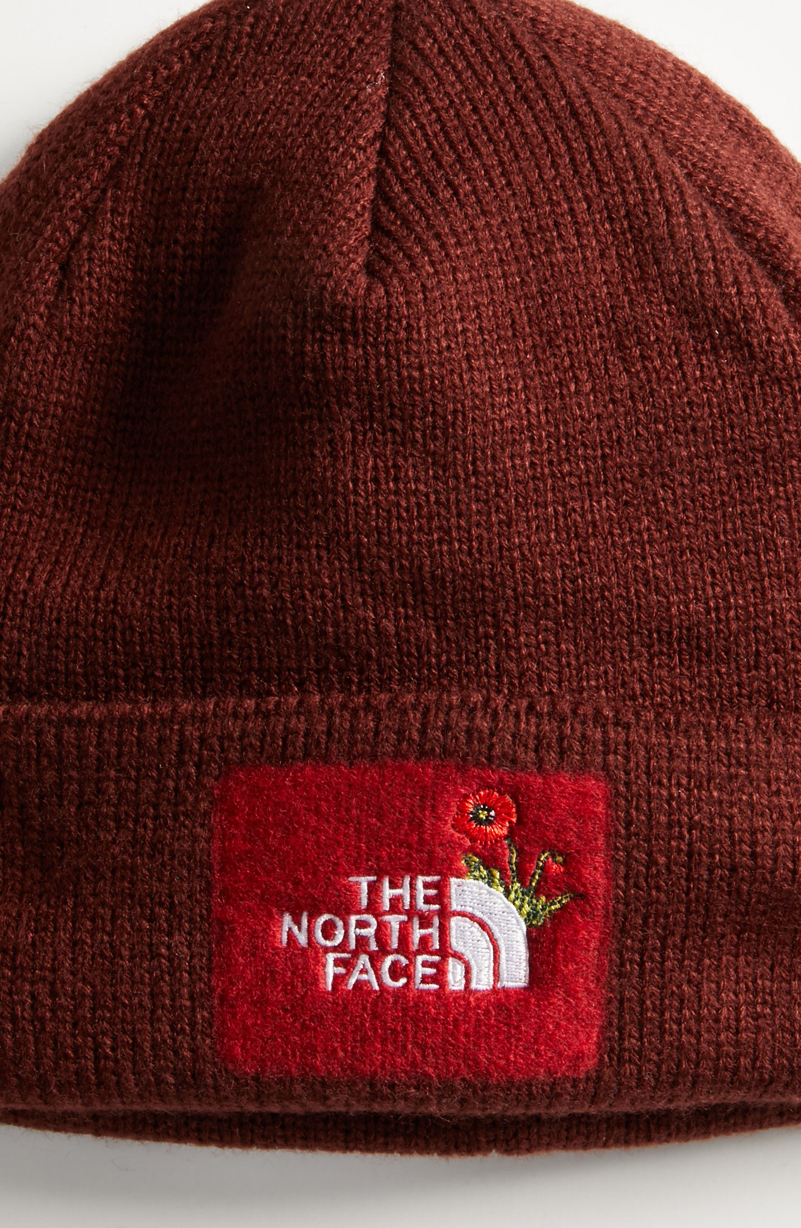 Felted Logo Beanie,                             Alternate thumbnail 2, color,                             Sequoia Red