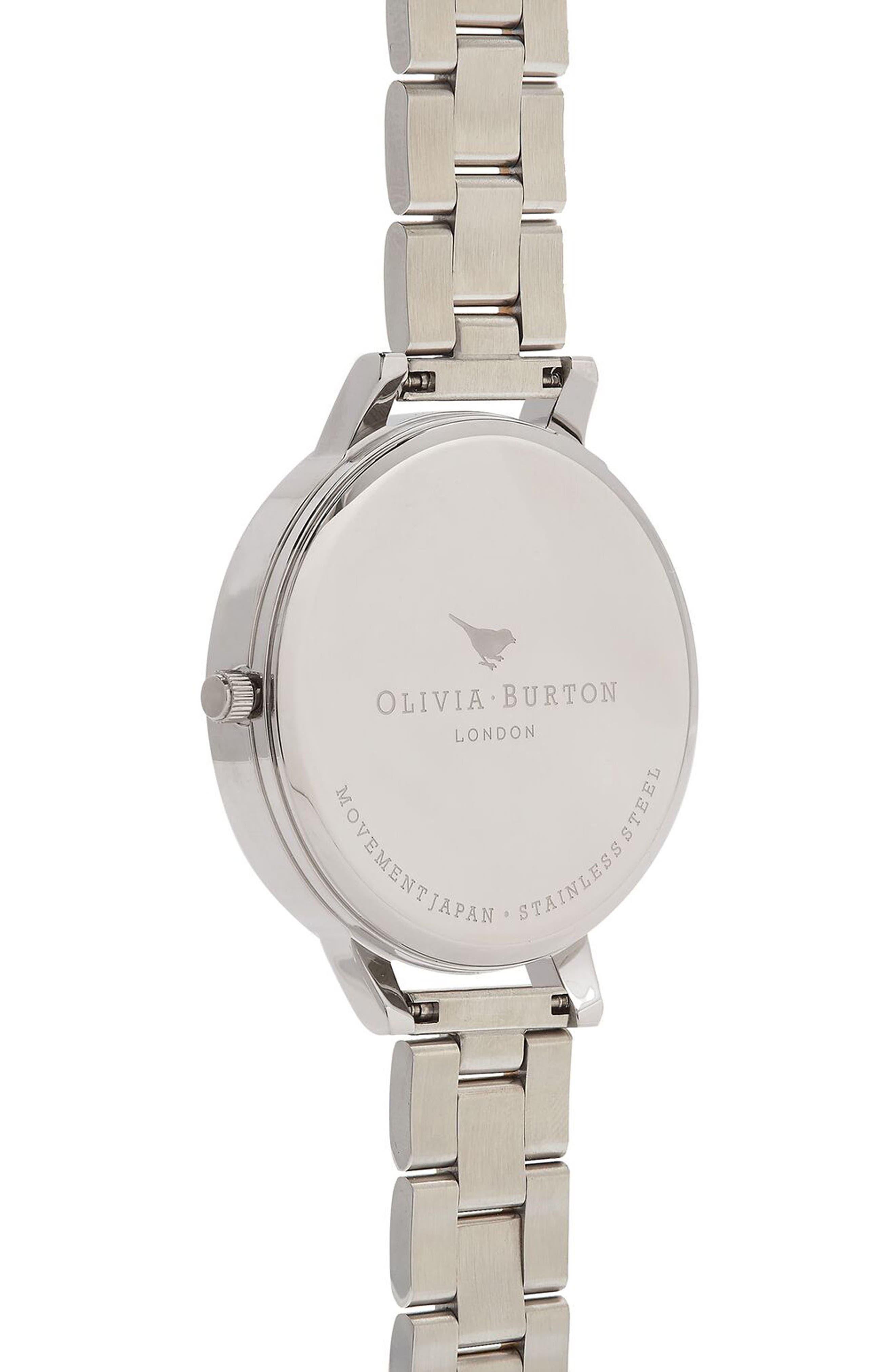 Big Dial Bracelet Watch, 38mm,                             Alternate thumbnail 2, color,                             White