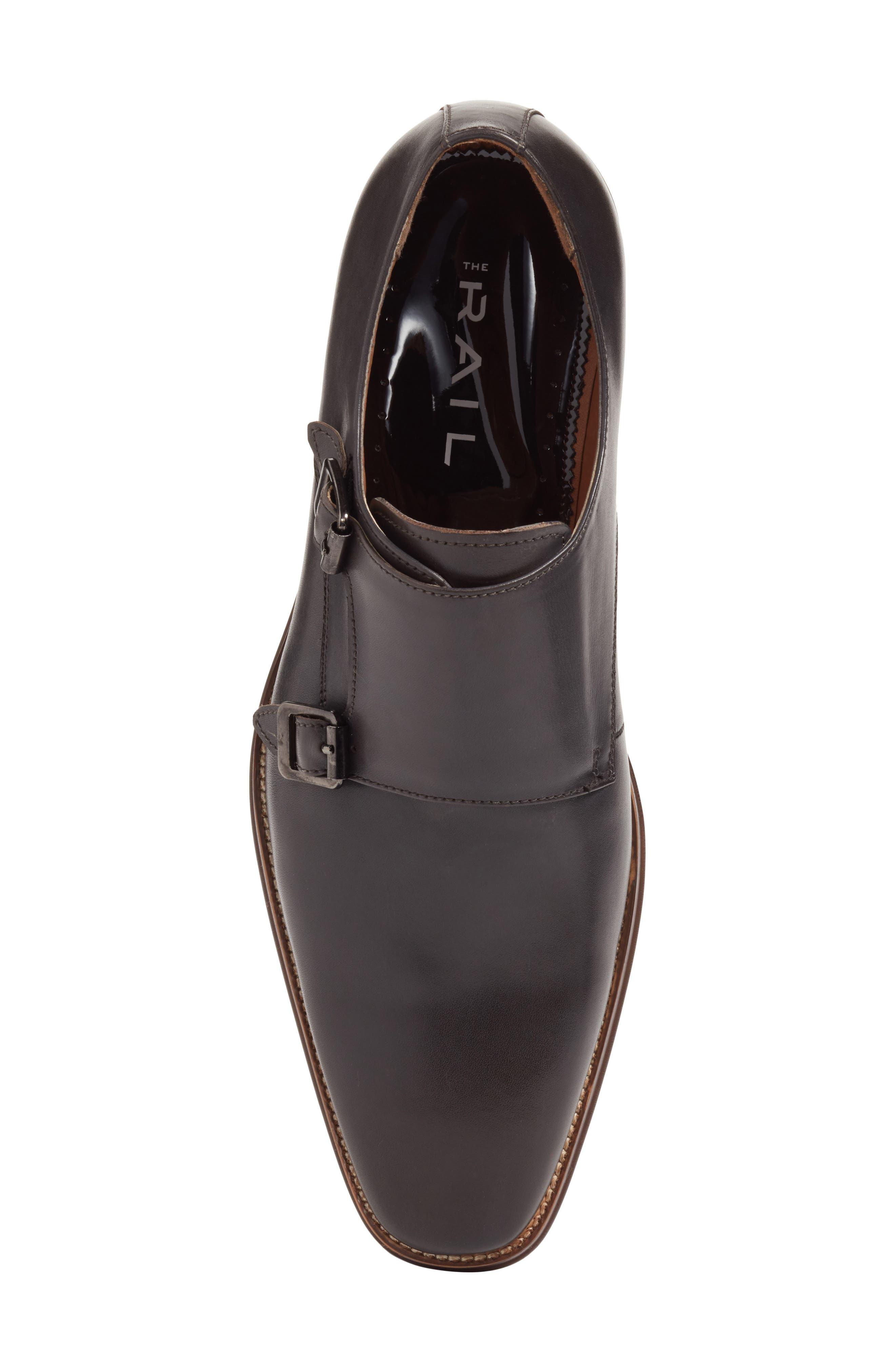 Sedona Double Strap Monk Shoe,                             Alternate thumbnail 5, color,                             Grey Leather