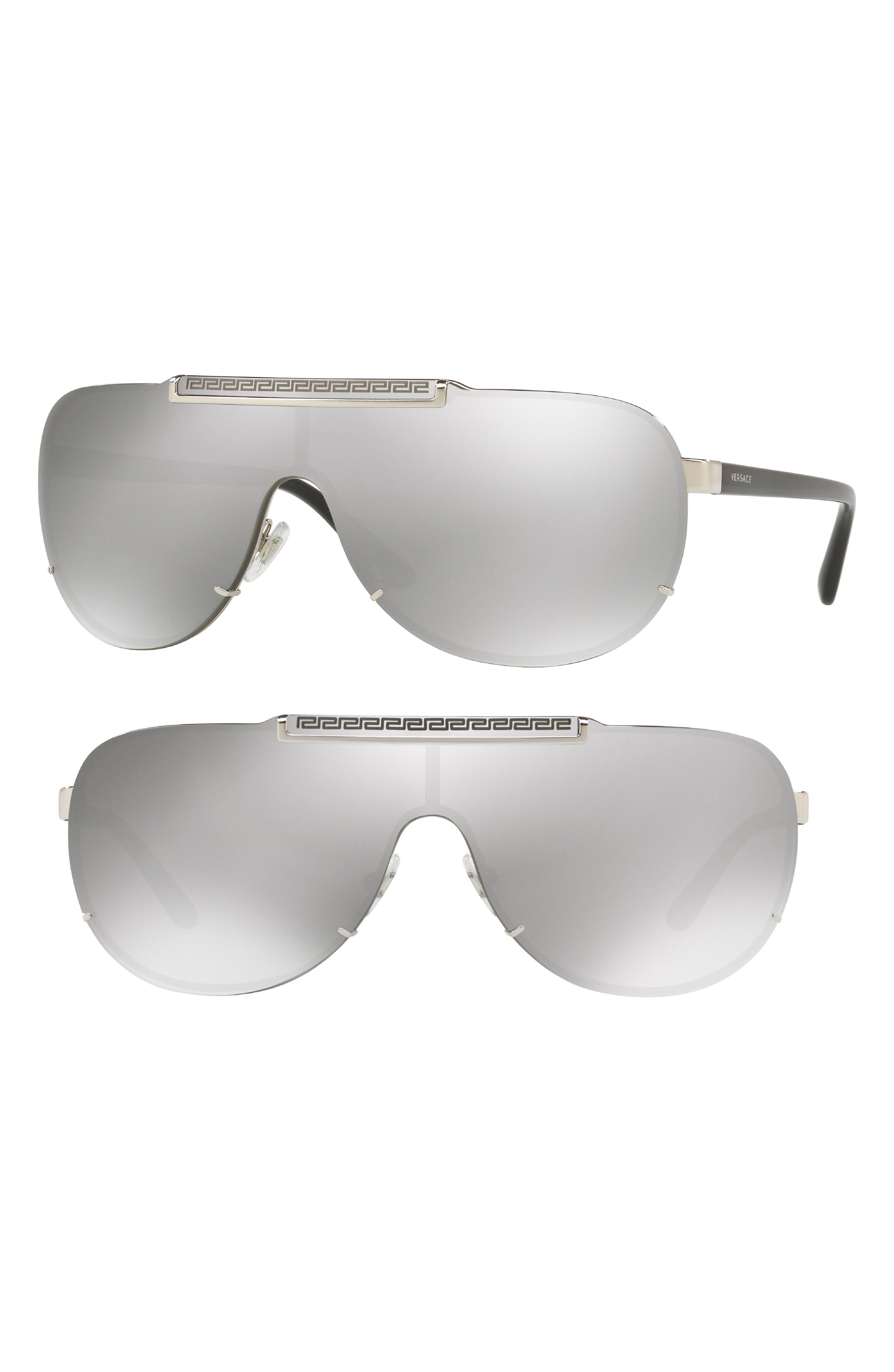 40mm Shield Sunglasses,                             Main thumbnail 1, color,                             Silver