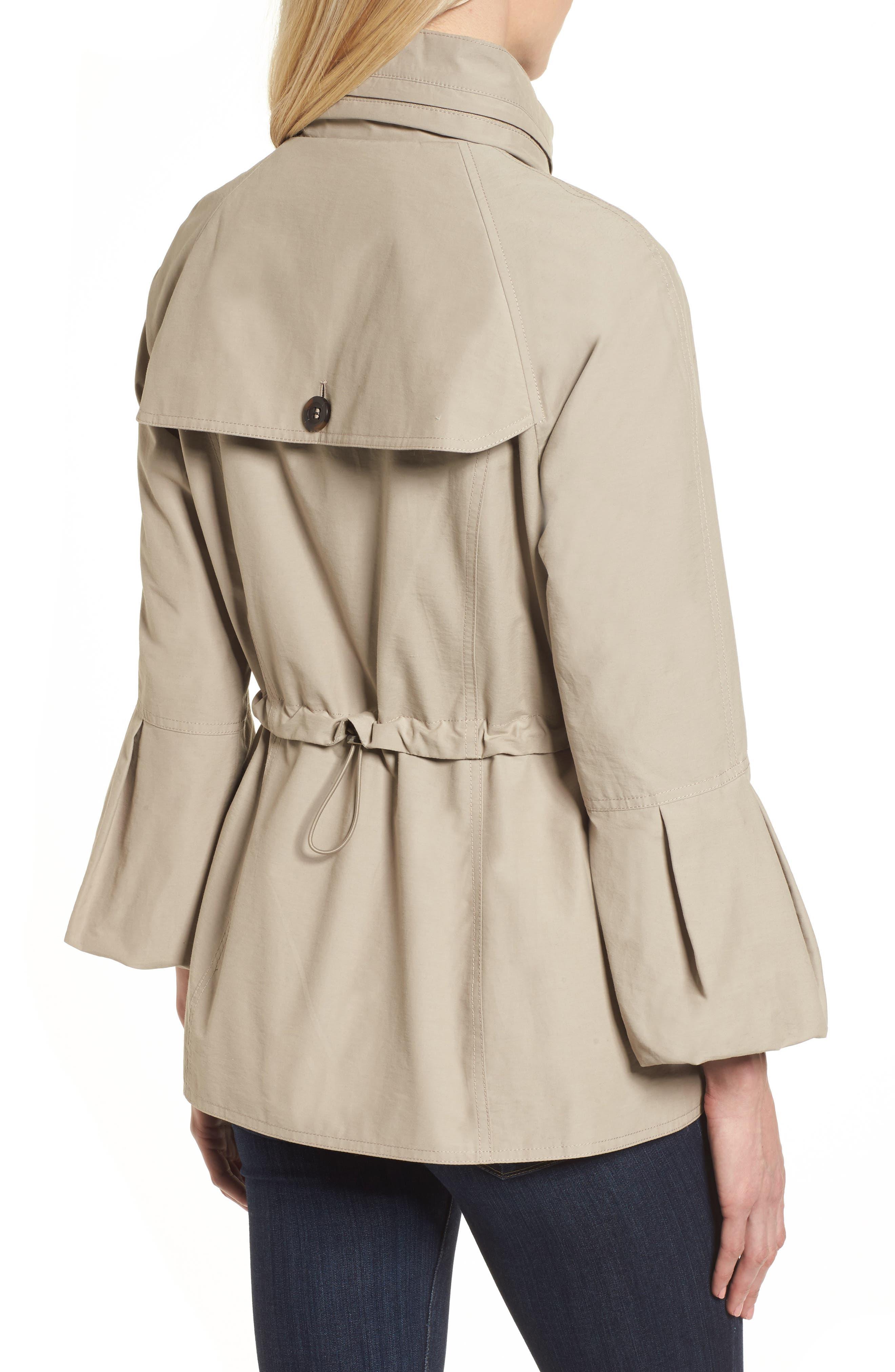 Alternate Image 2  - Gallery Bell Sleeve Jacket with Stowaway Hood