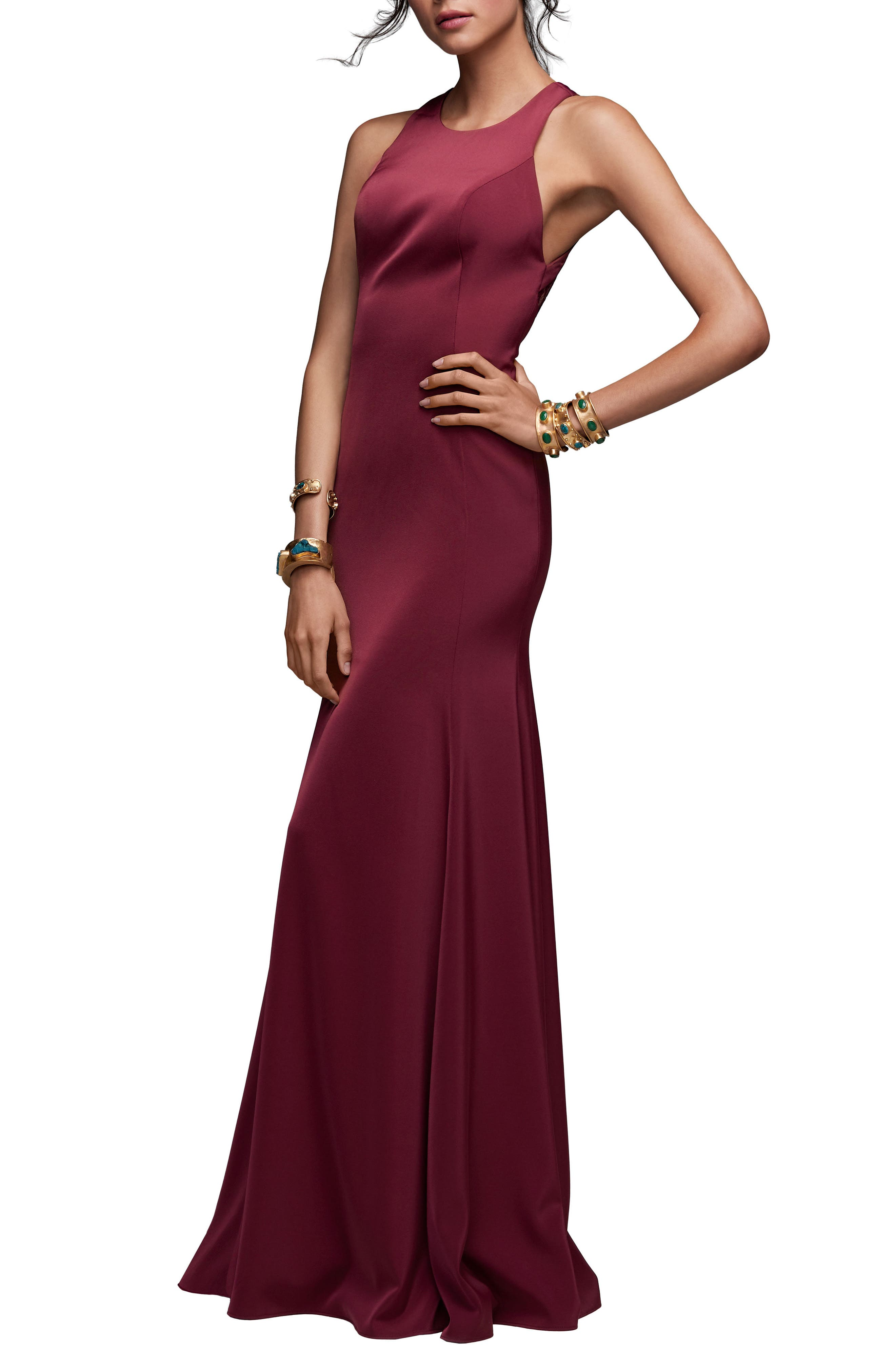 Main Image - Watters Coralie Lace Back Gown