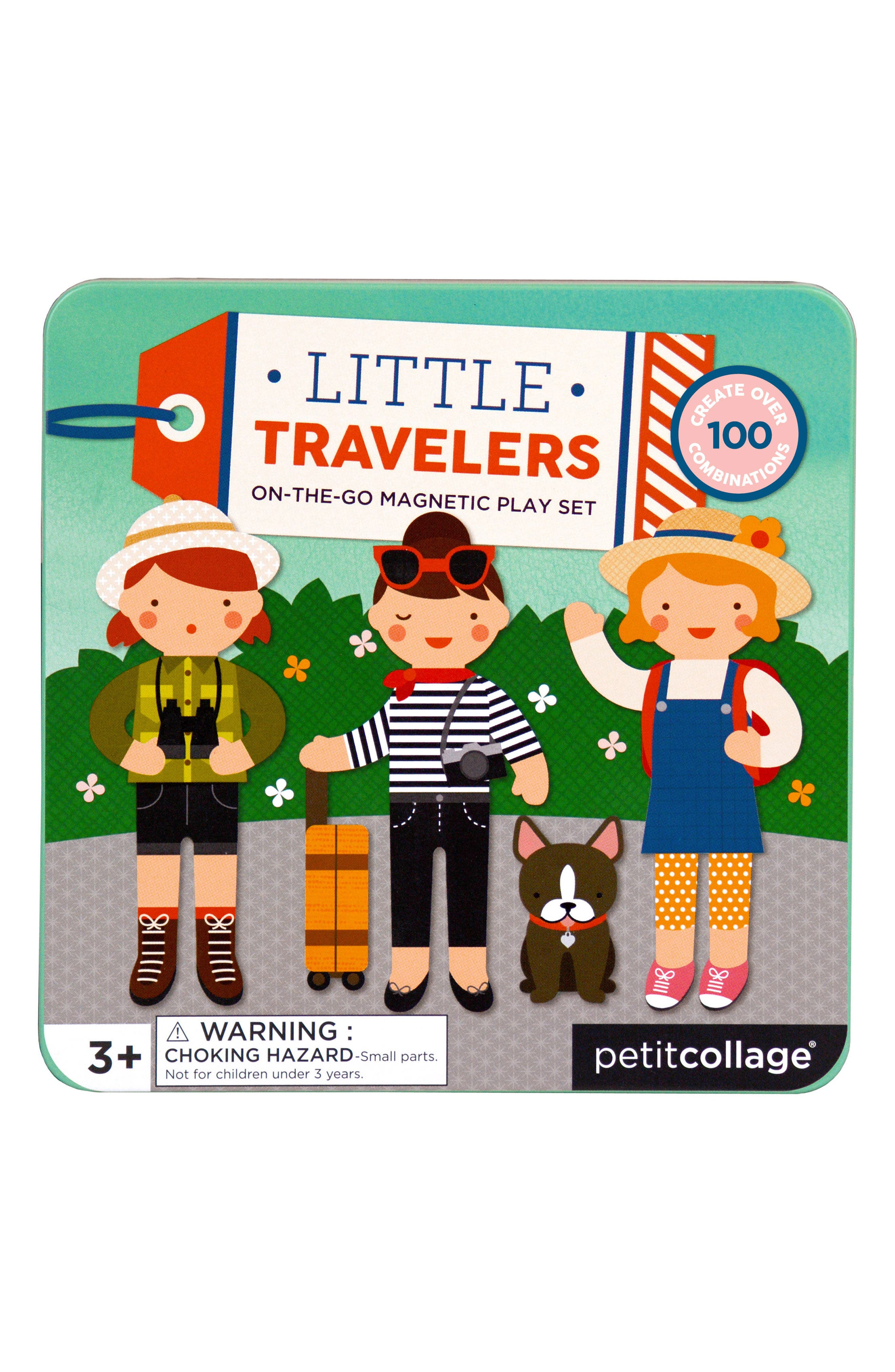 Little Travelers On-the-Go Magnetic Play Set,                             Main thumbnail 1, color,                             Green