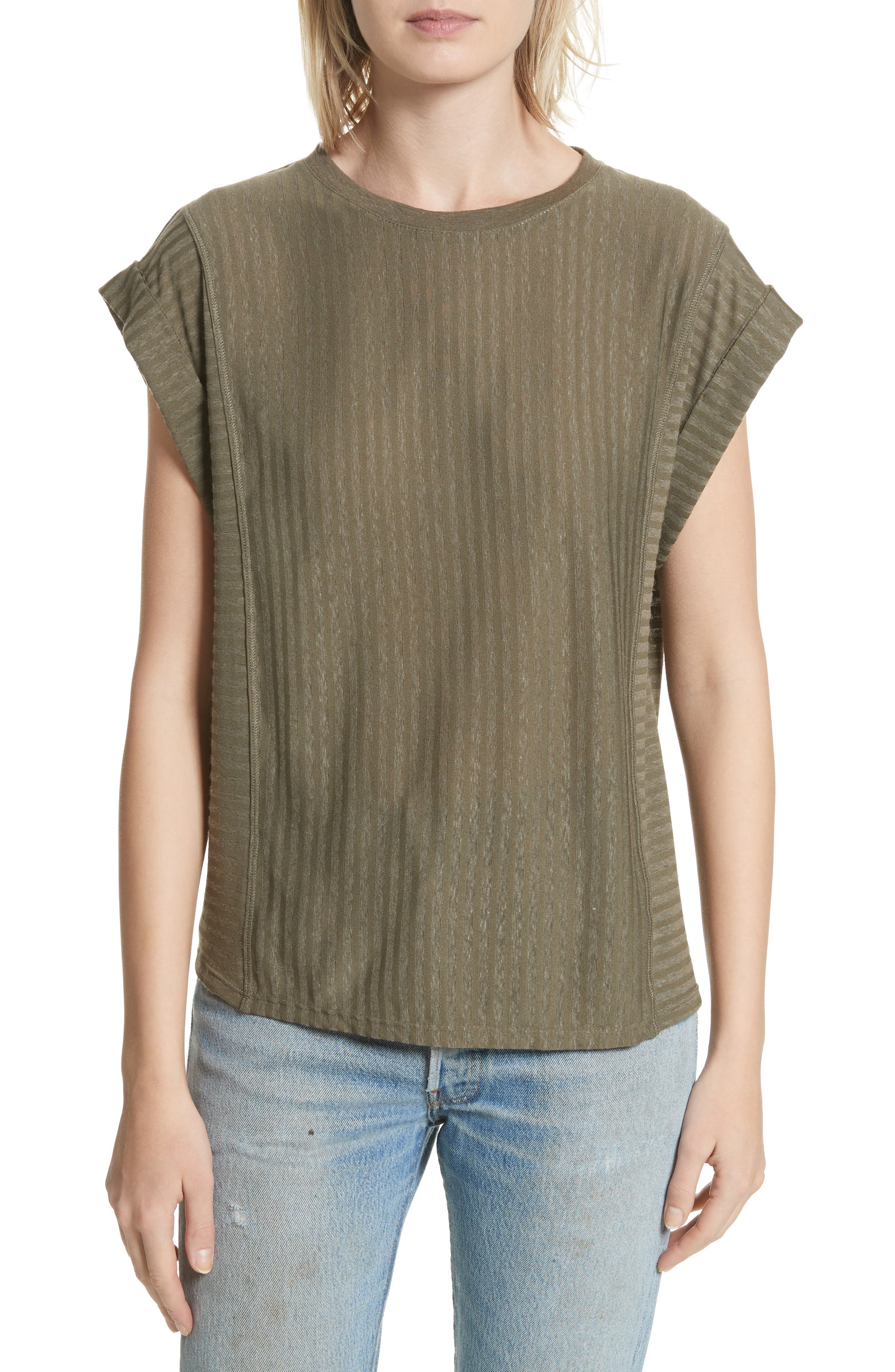 Holton Cuff Stripe Tee,                         Main,                         color, Army