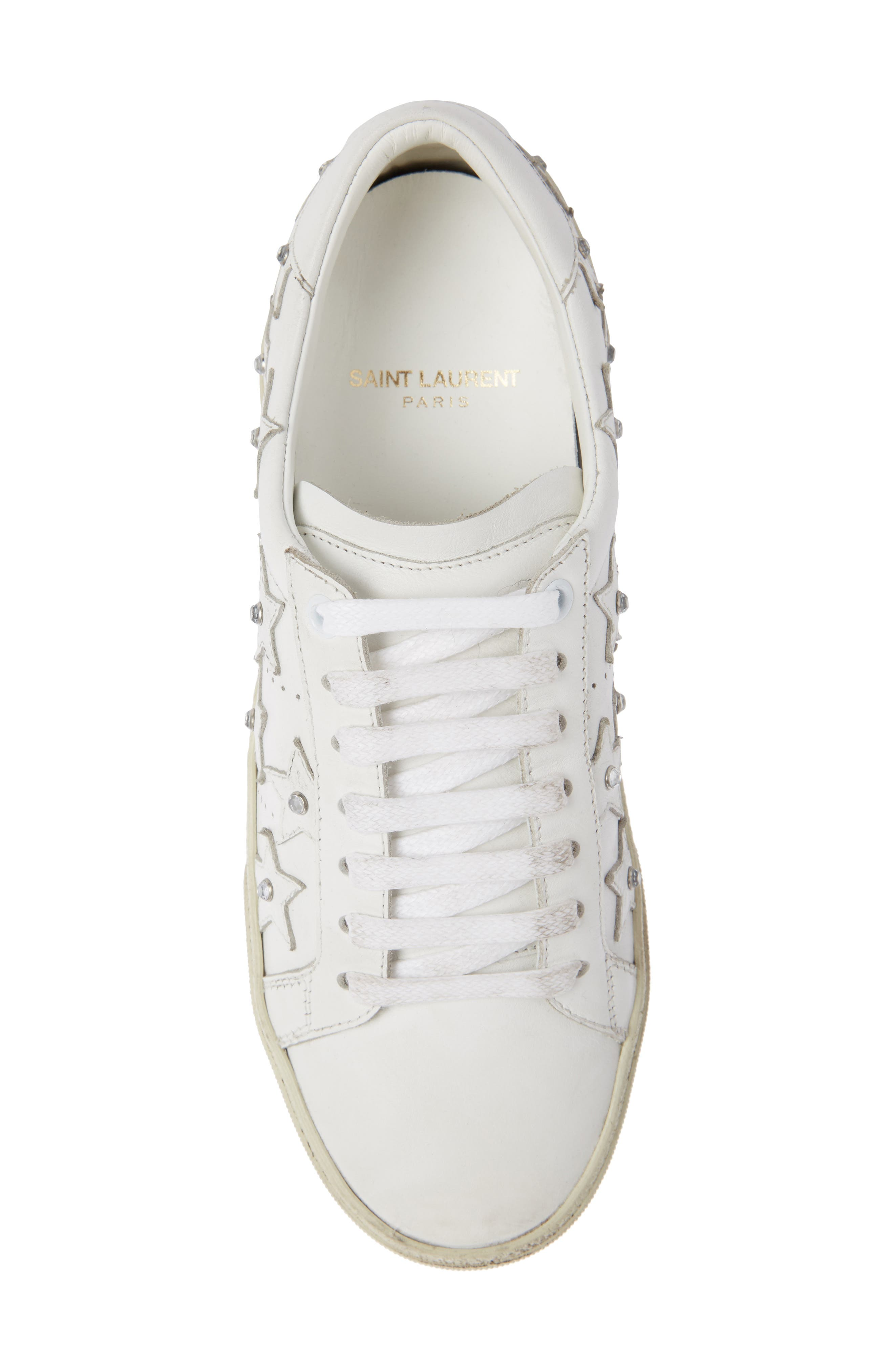 Court Classic Embellished Star Sneaker,                             Alternate thumbnail 3, color,                             White