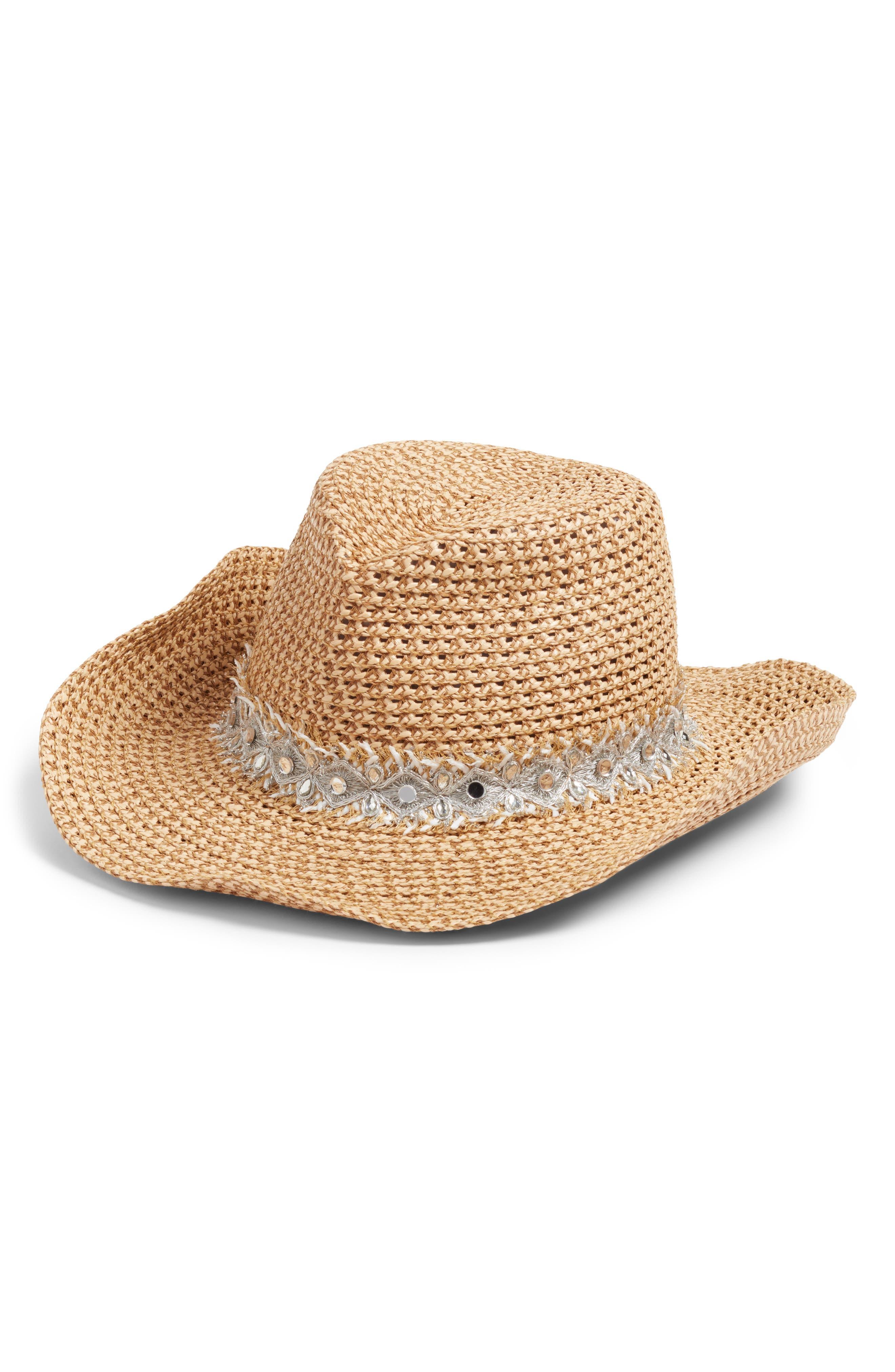 a42a3bf6885 Eric Javits Ariela Squishee Western Hat - Brown In Peanut  Silver ...