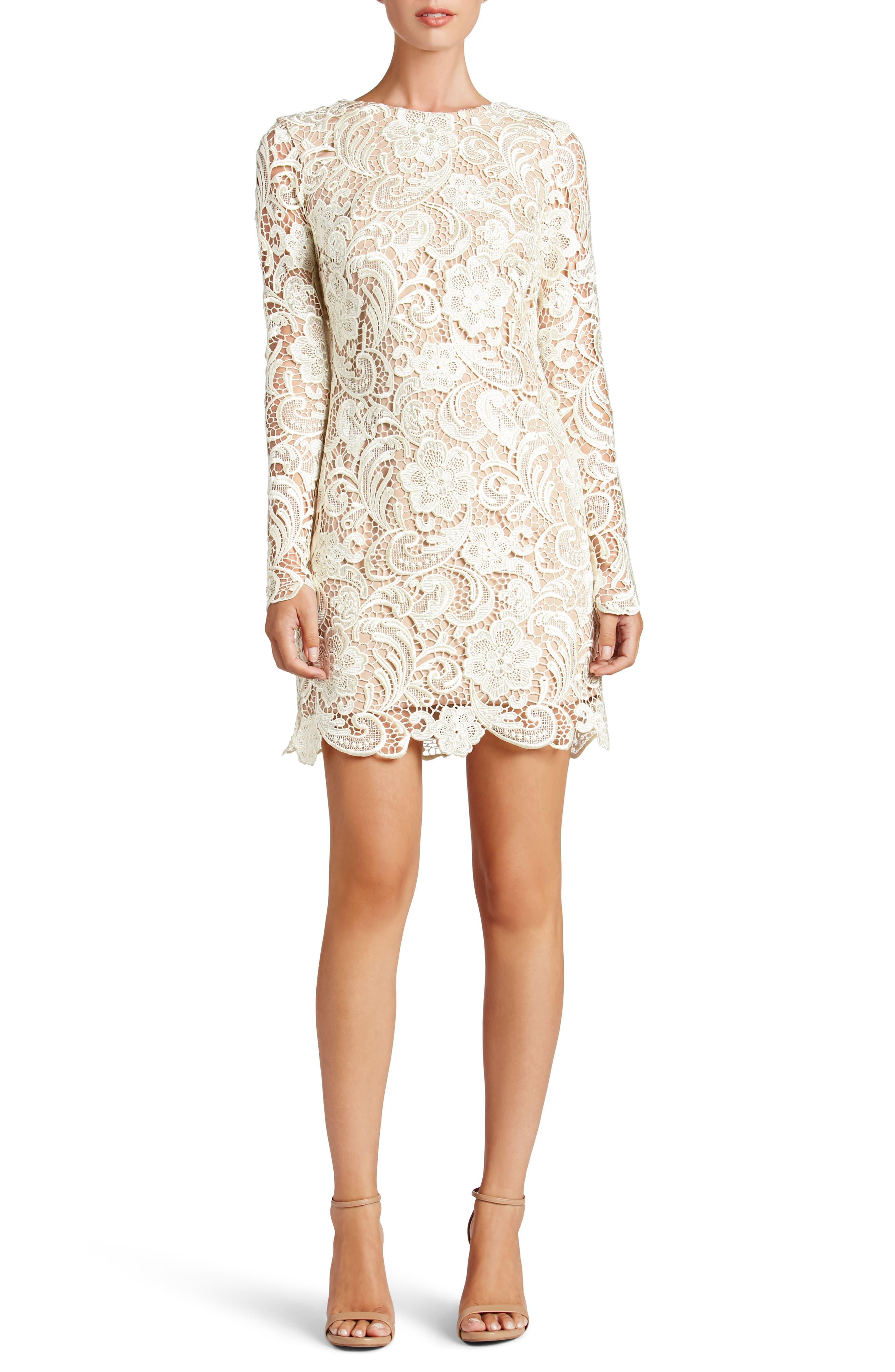 Dress the Population Jessica Crochet Shift Dress