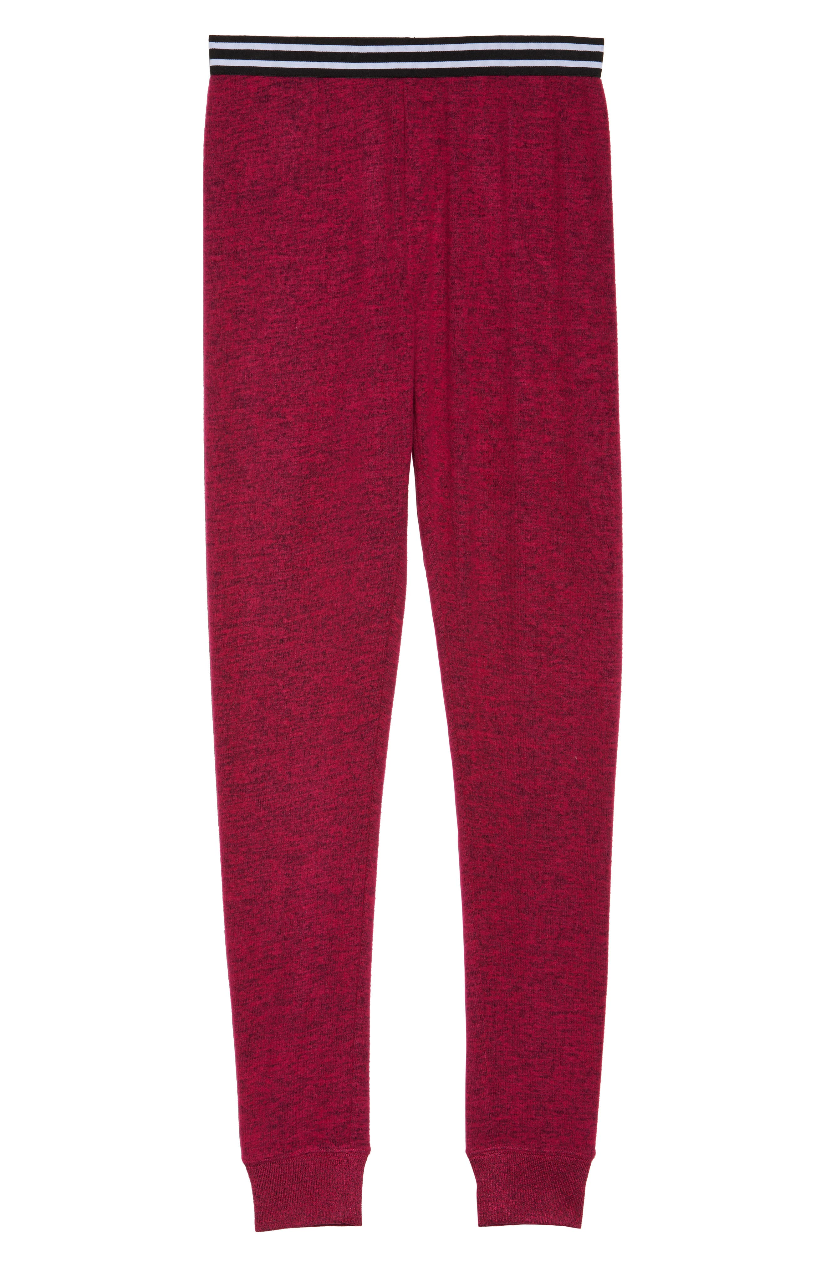 Cuddle Up Lounge Leggings,                             Alternate thumbnail 4, color,                             Pink Vivacious Marl