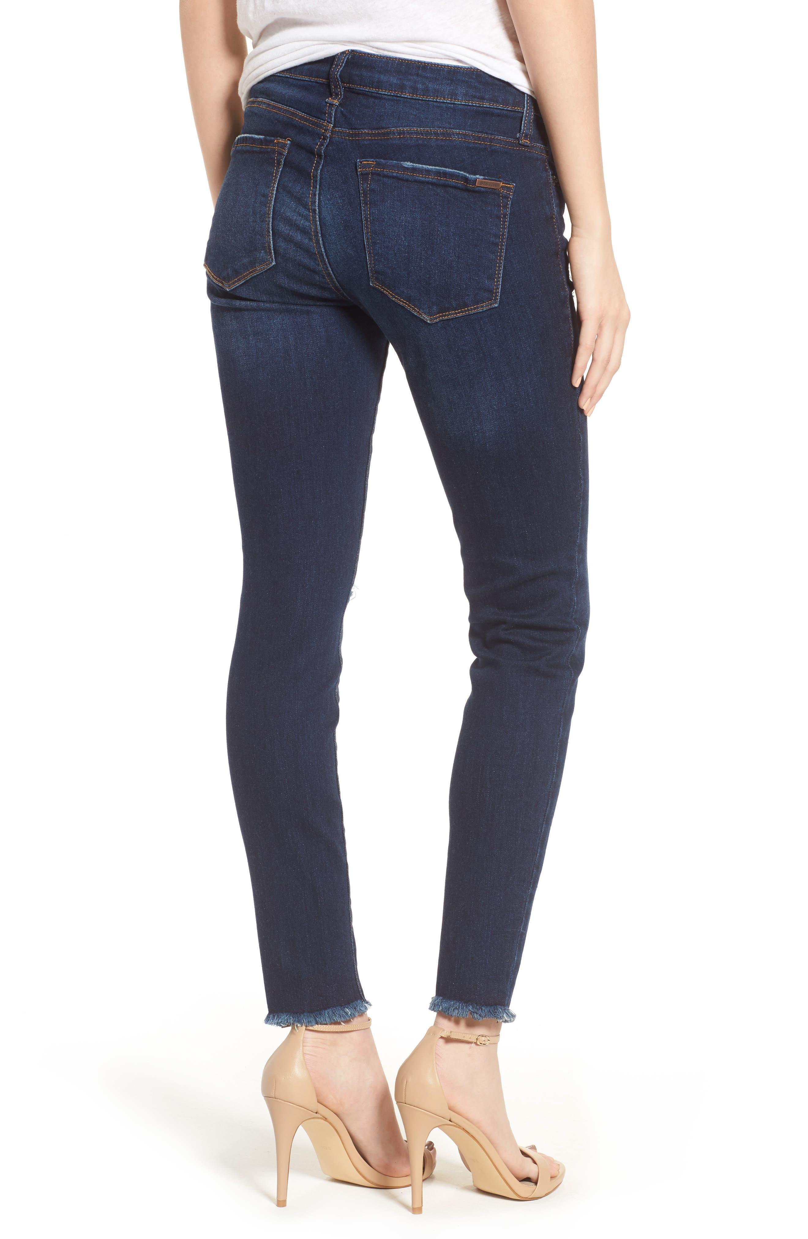Alternate Image 2  - STS Blue Emma Frayed Hem Ankle Skinny Jeans (North La Canada)