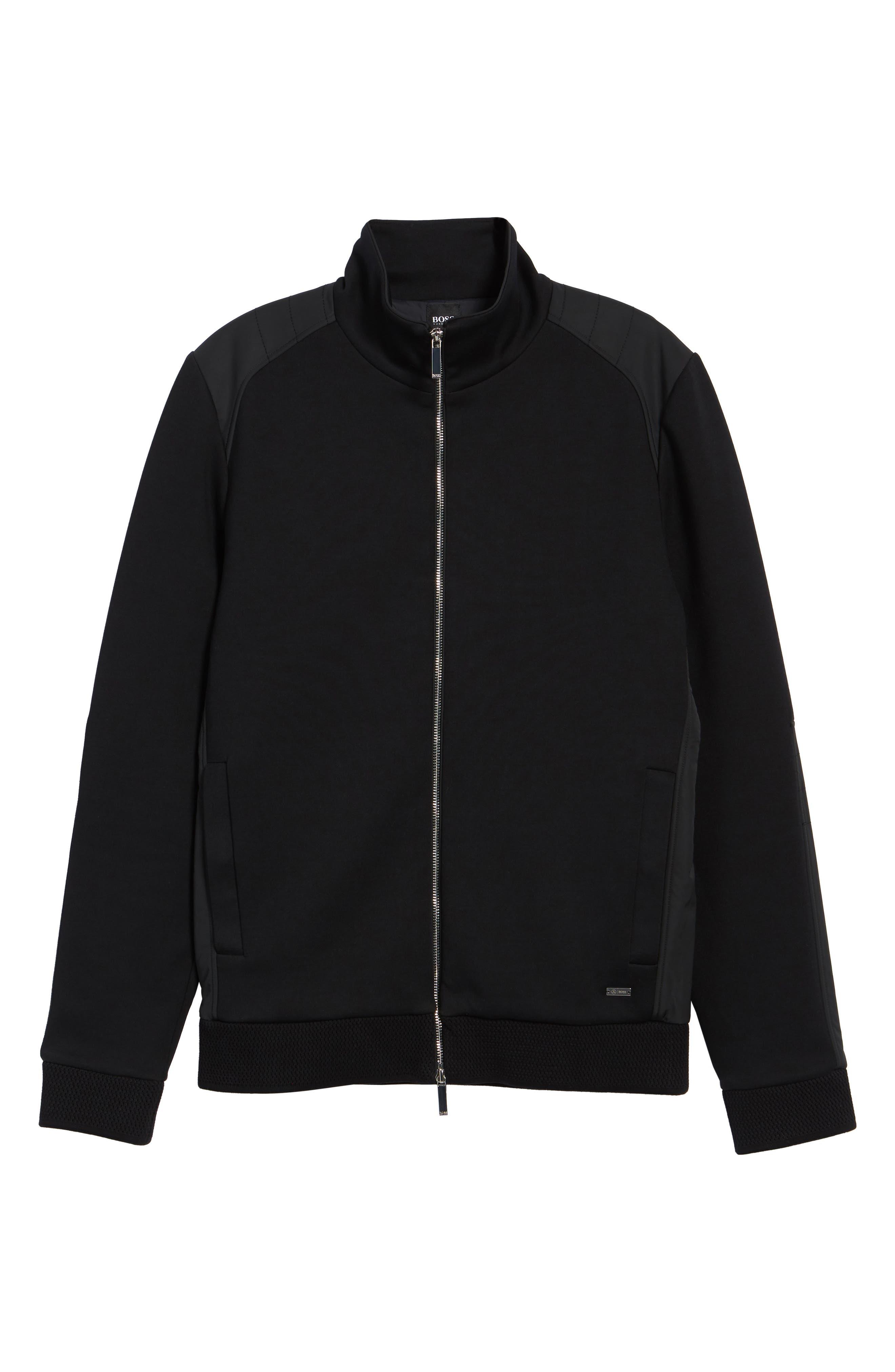 Soule Mercedes Slim Fit Zip Jacket,                             Alternate thumbnail 6, color,                             Black