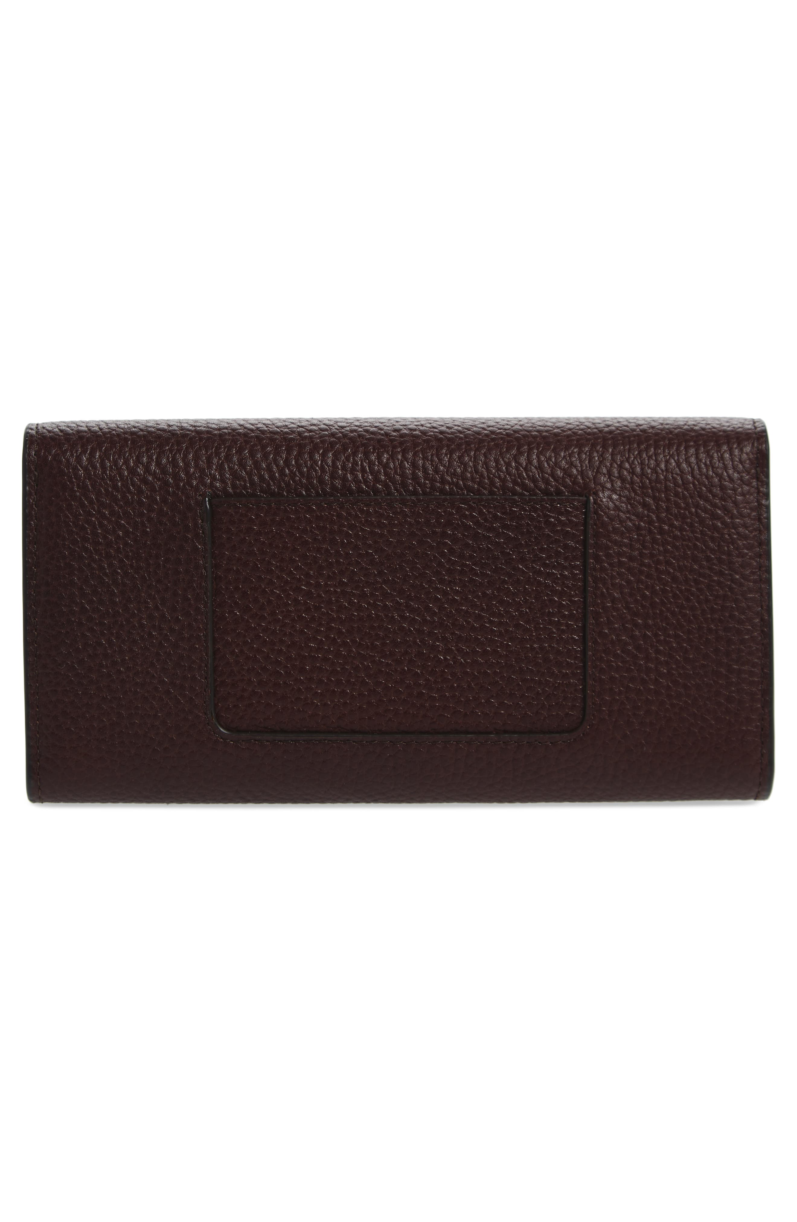 Darley Continental Calfskin Leather Wallet,                             Alternate thumbnail 4, color,                             Oxblood
