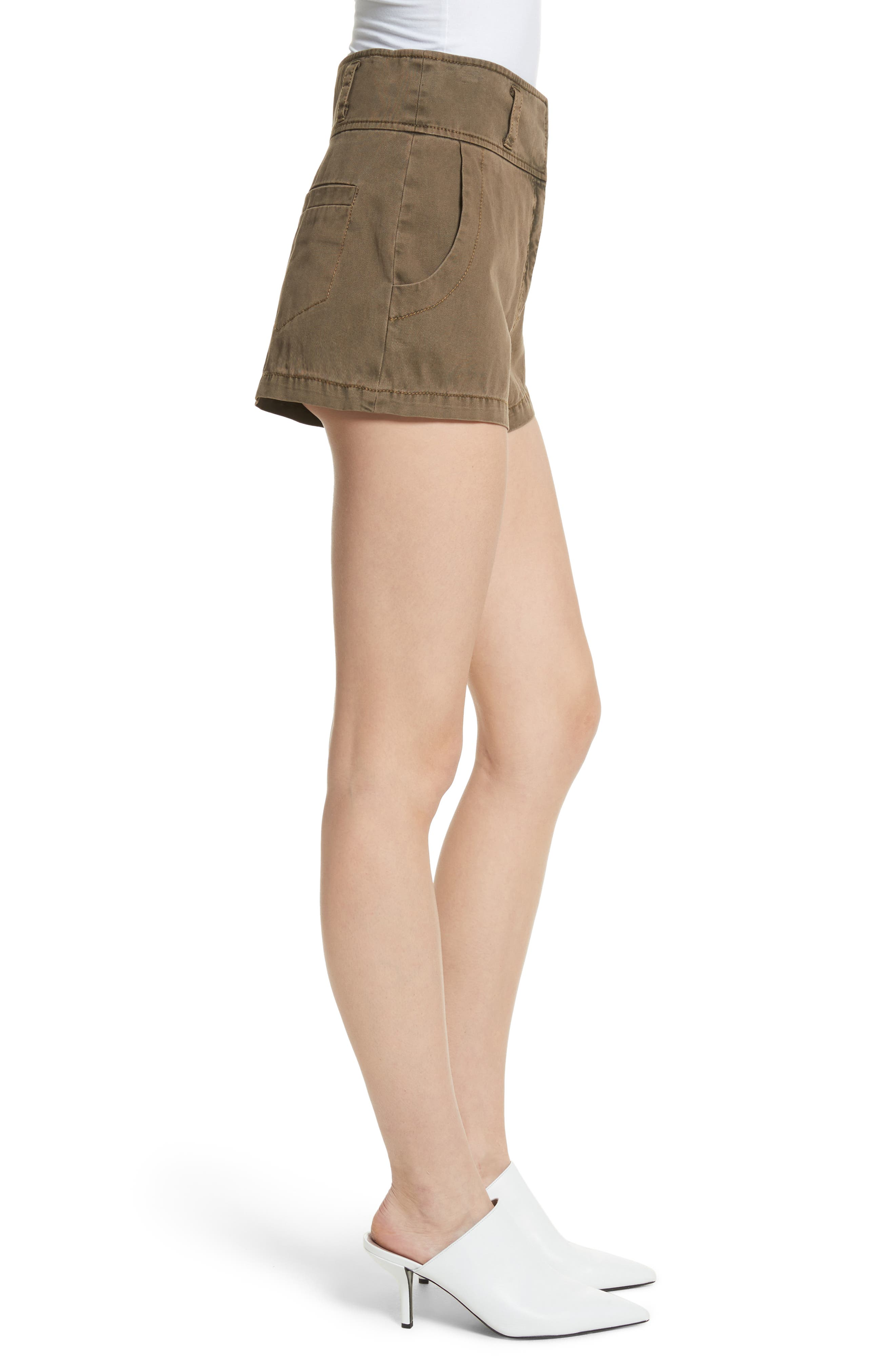 Tour Les Jour Shiloh Shorts,                             Alternate thumbnail 3, color,                             Olive/ Amber