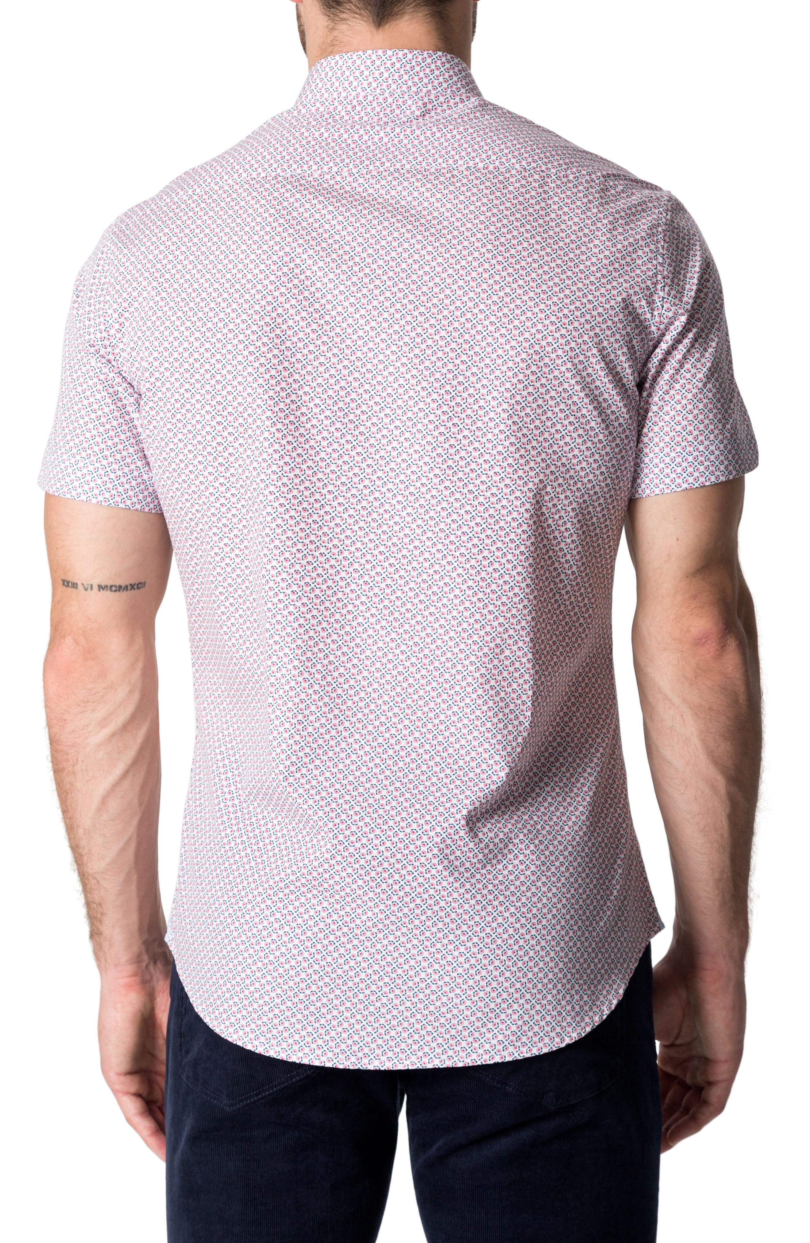 Funky Fire Woven Shirt,                             Alternate thumbnail 2, color,                             Red
