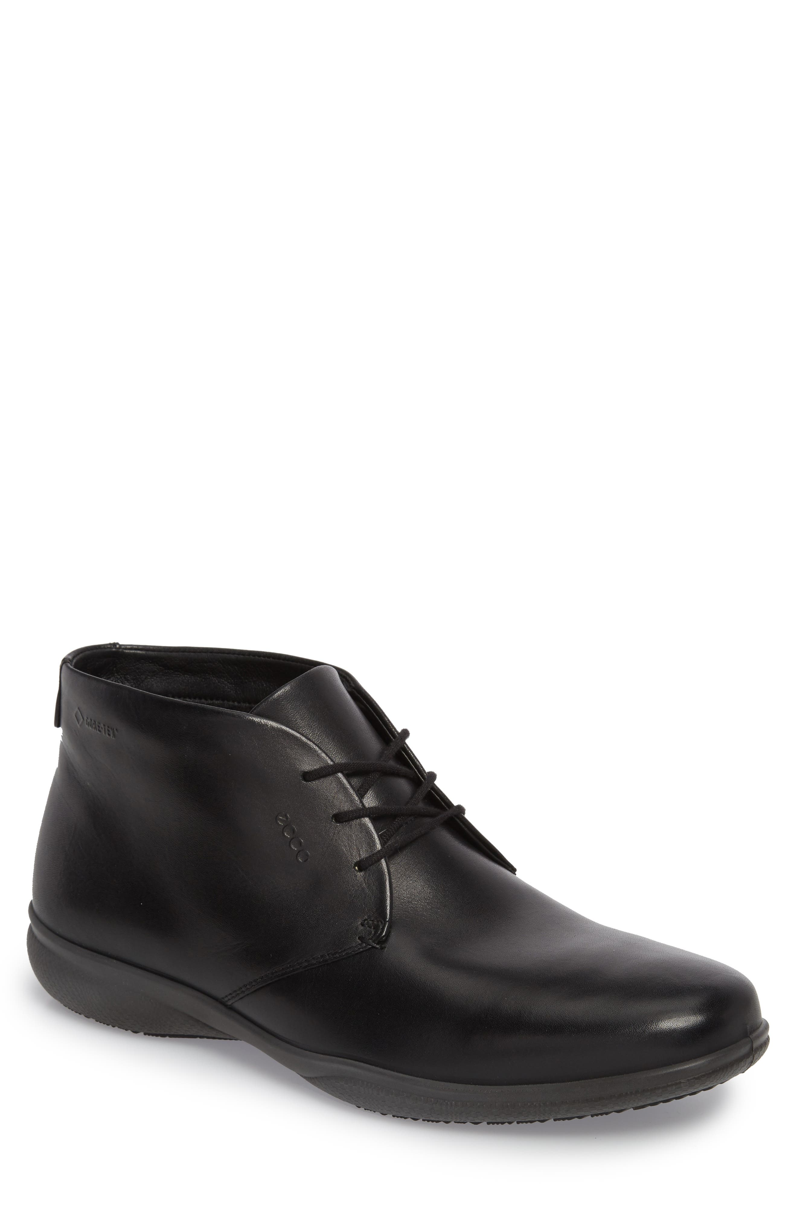 'Grenoble' Chukka Boot,                         Main,                         color, Black Leather