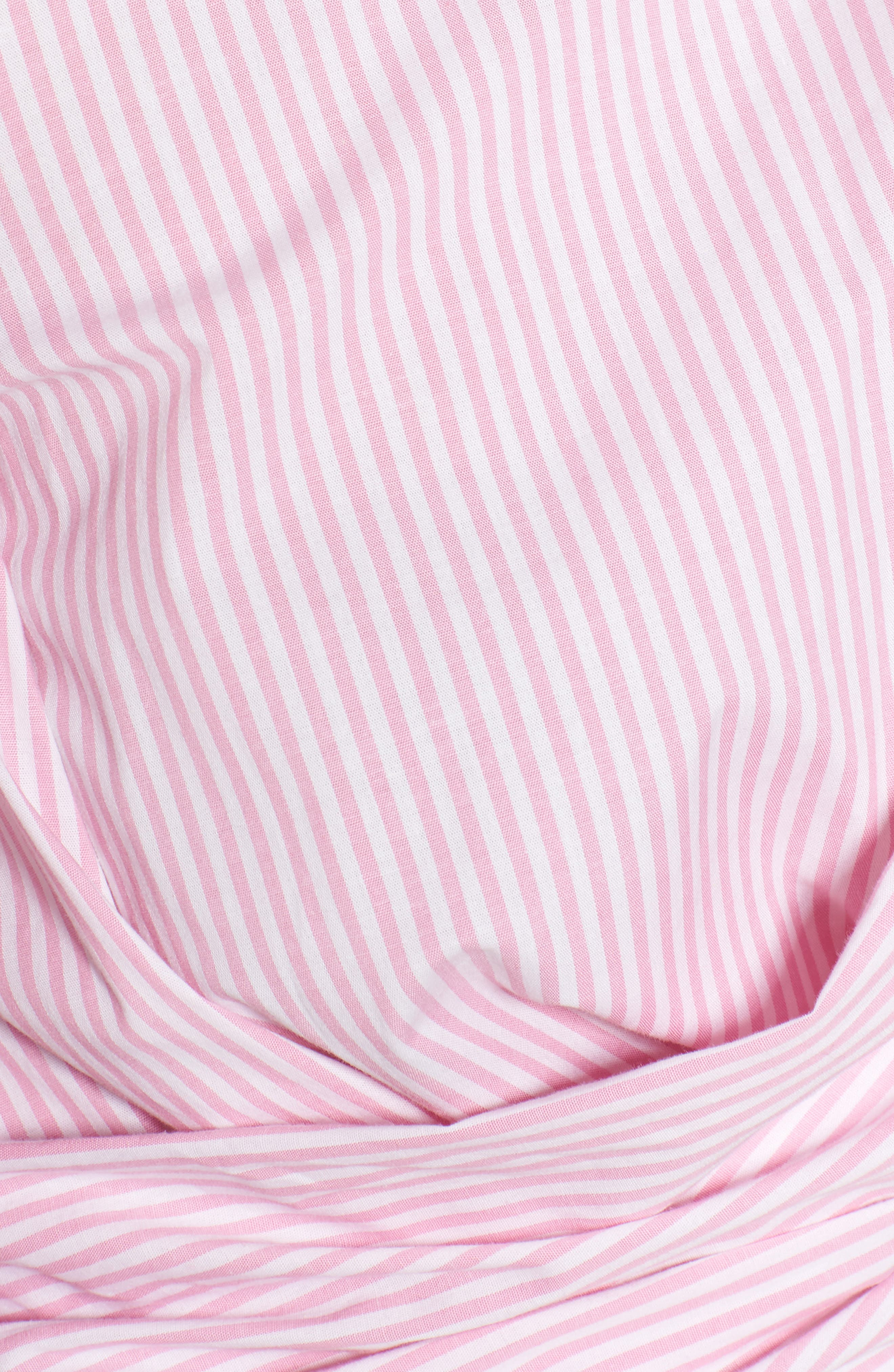 Dayna Tie Back Poplin Top,                             Alternate thumbnail 7, color,                             Pink Stripe
