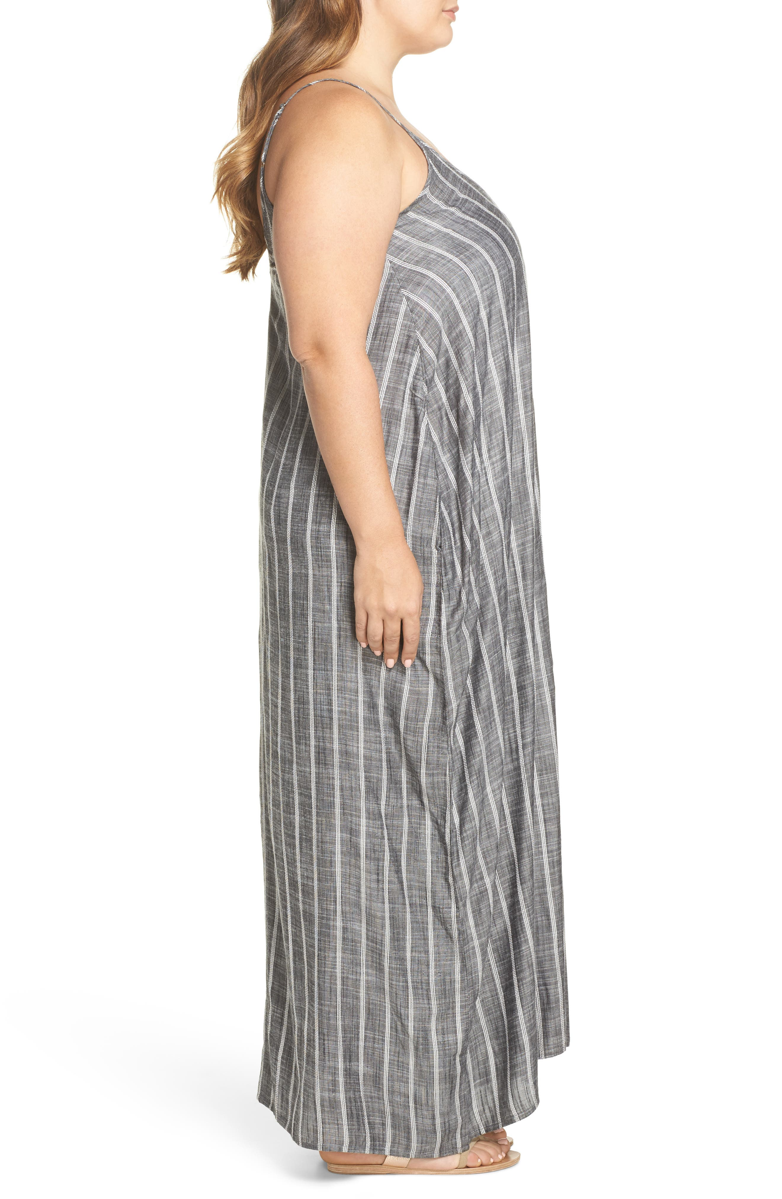 Cover-Up Maxi Dress,                             Alternate thumbnail 3, color,                             Grey