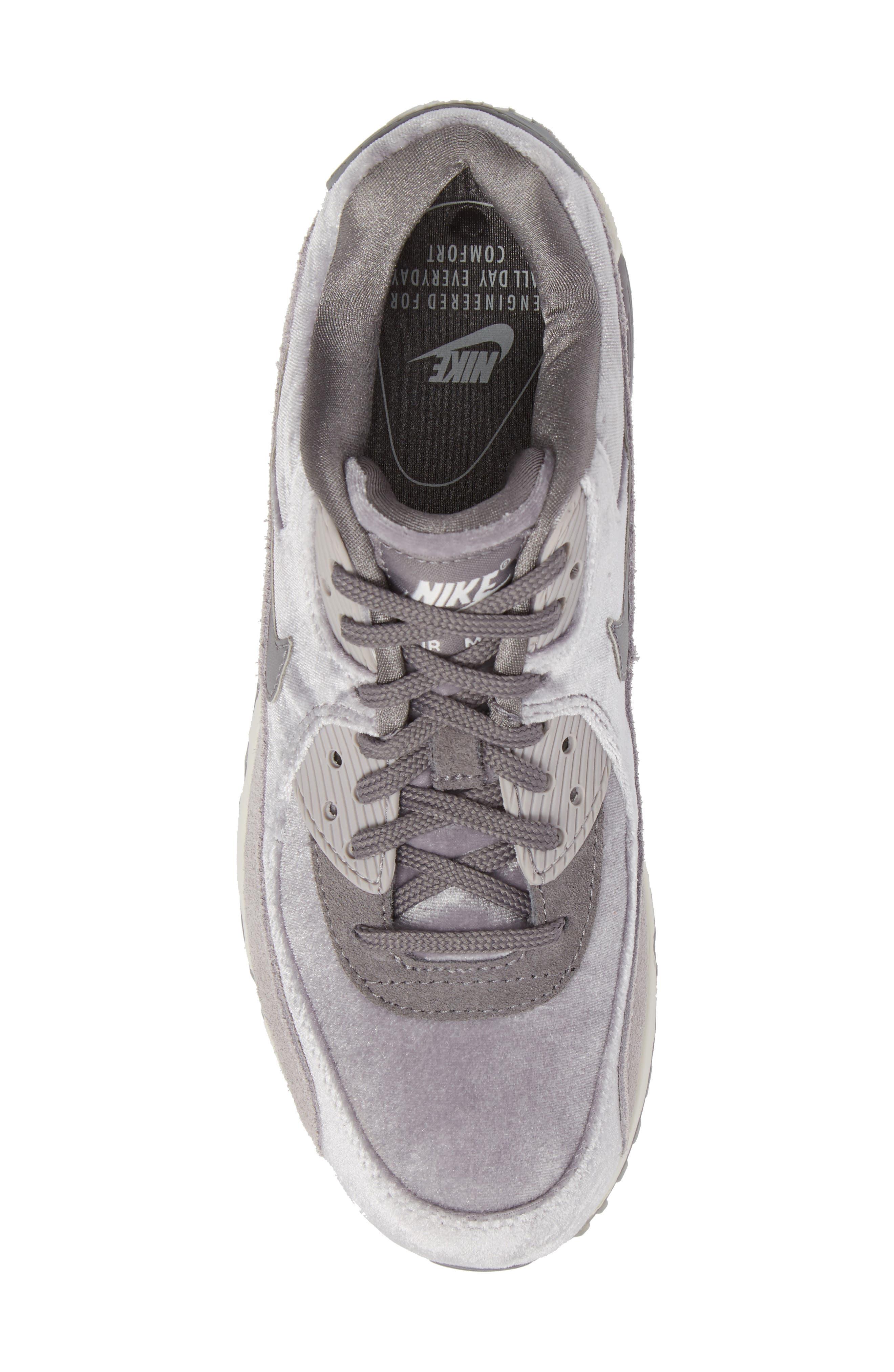 Air Max 90 LX Sneaker,                             Alternate thumbnail 5, color,                             Smoke/ Smoke