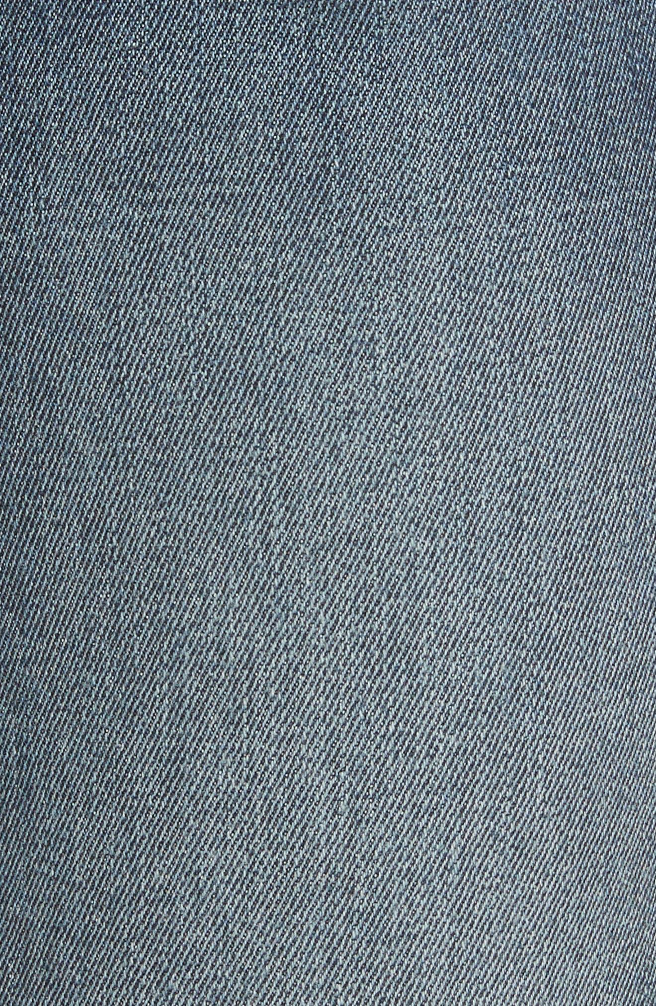 Le Nouveau Scoop Hem Ankle Straight Leg Jeans,                             Alternate thumbnail 5, color,                             Candover