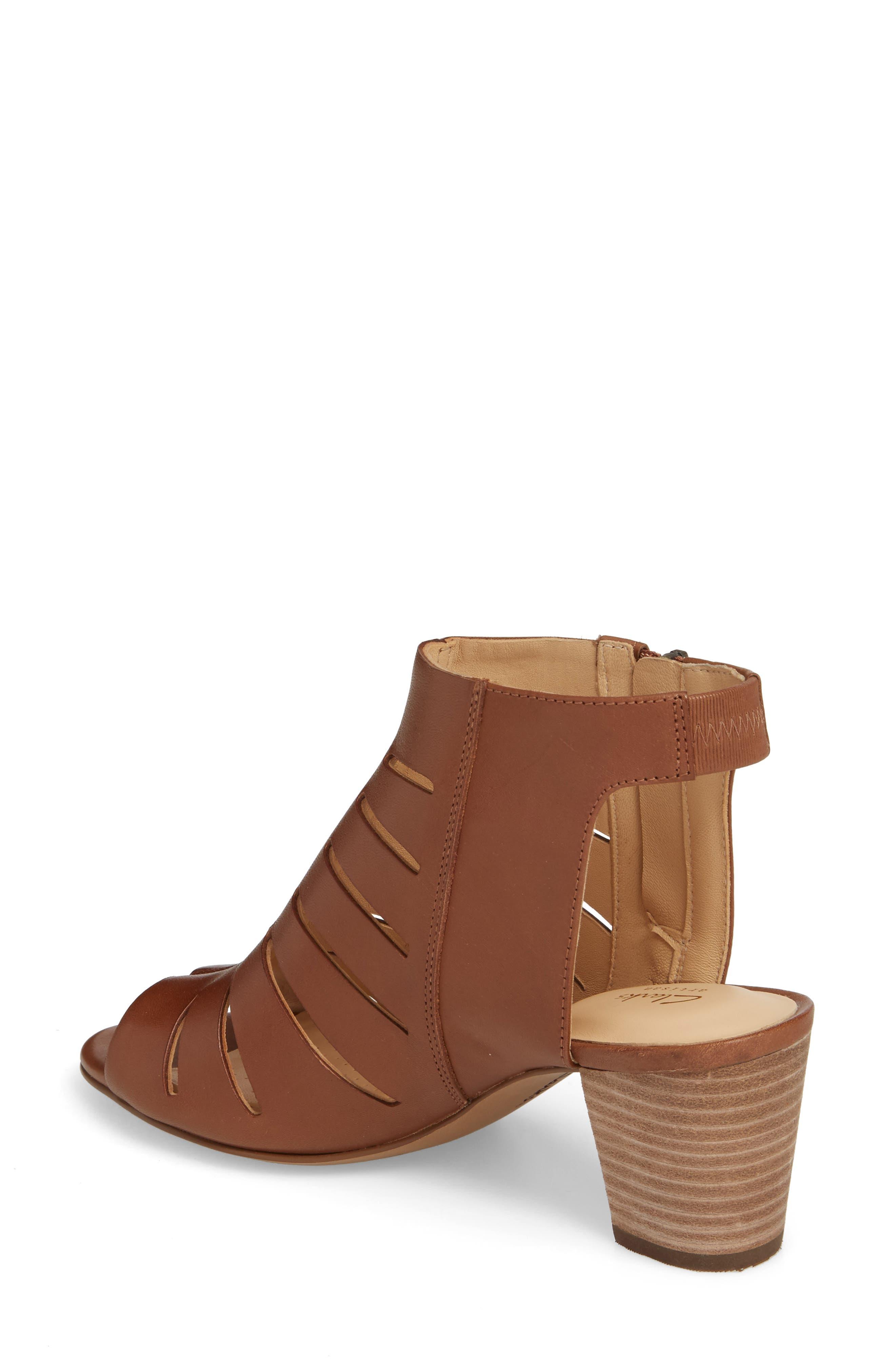 Deloria Ivy Sandal,                             Alternate thumbnail 2, color,                             Tan Leather