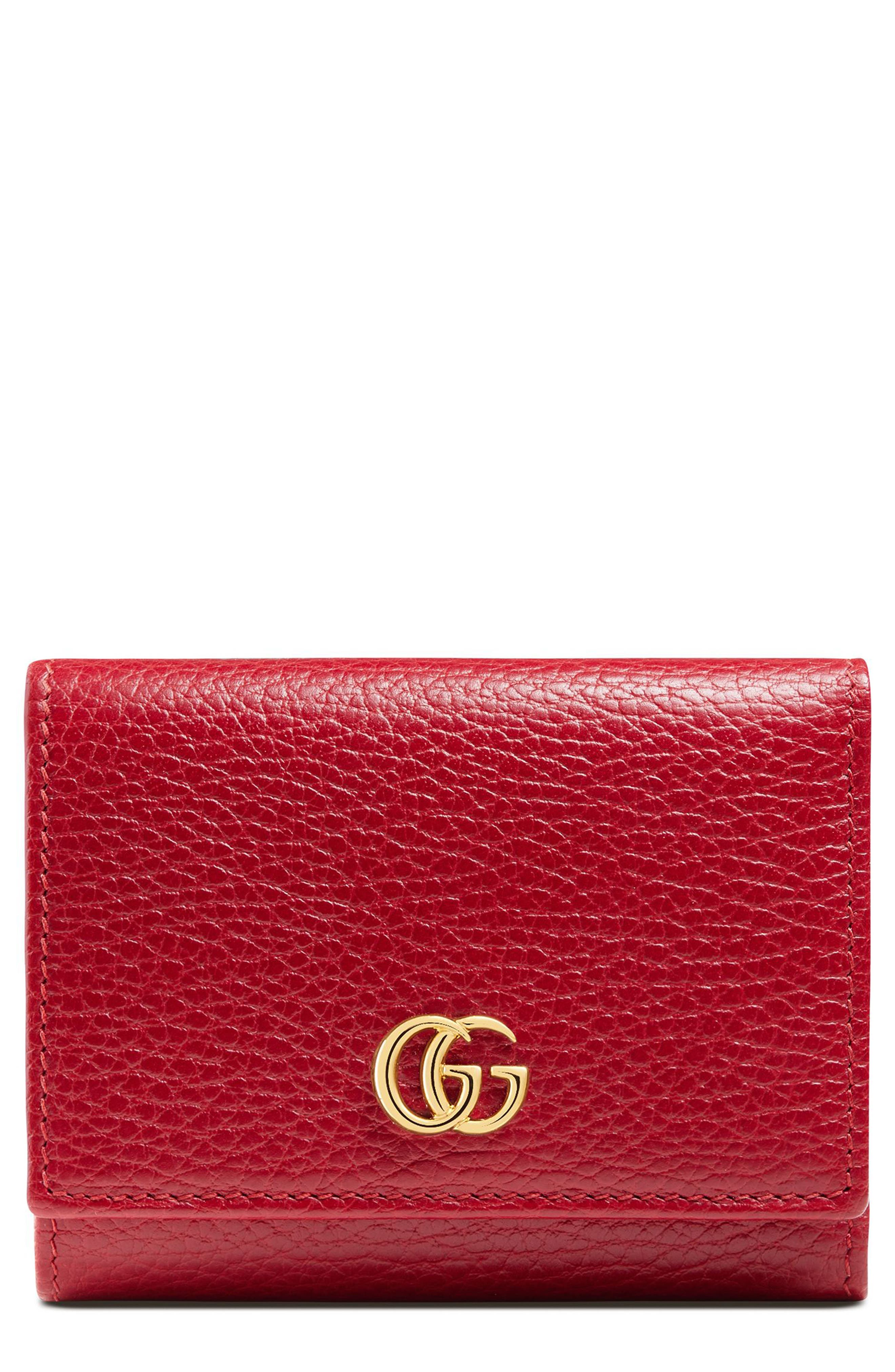 Main Image - Gucci Petite Marmont Leather French Wallet