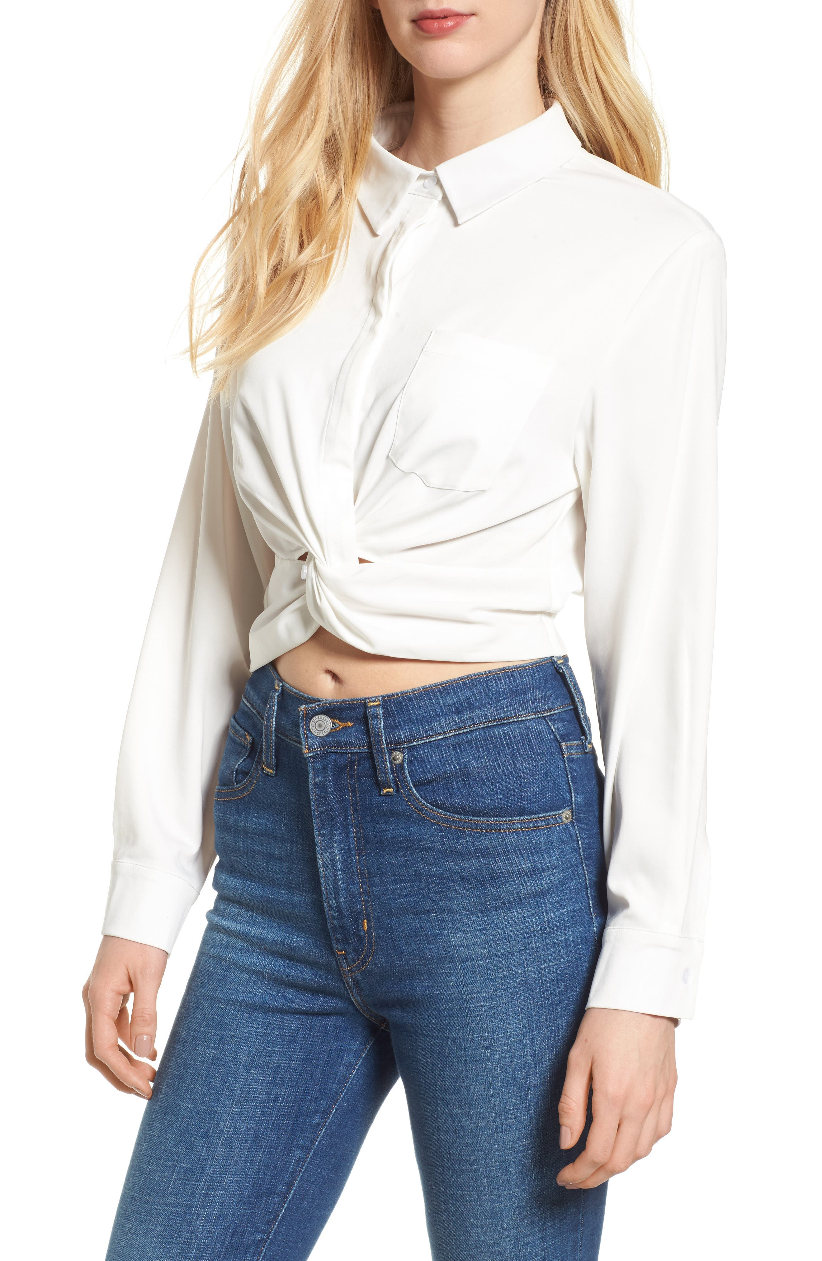 Bishop + Young Alexandra Twist Blouse,                         Main,                         color, White