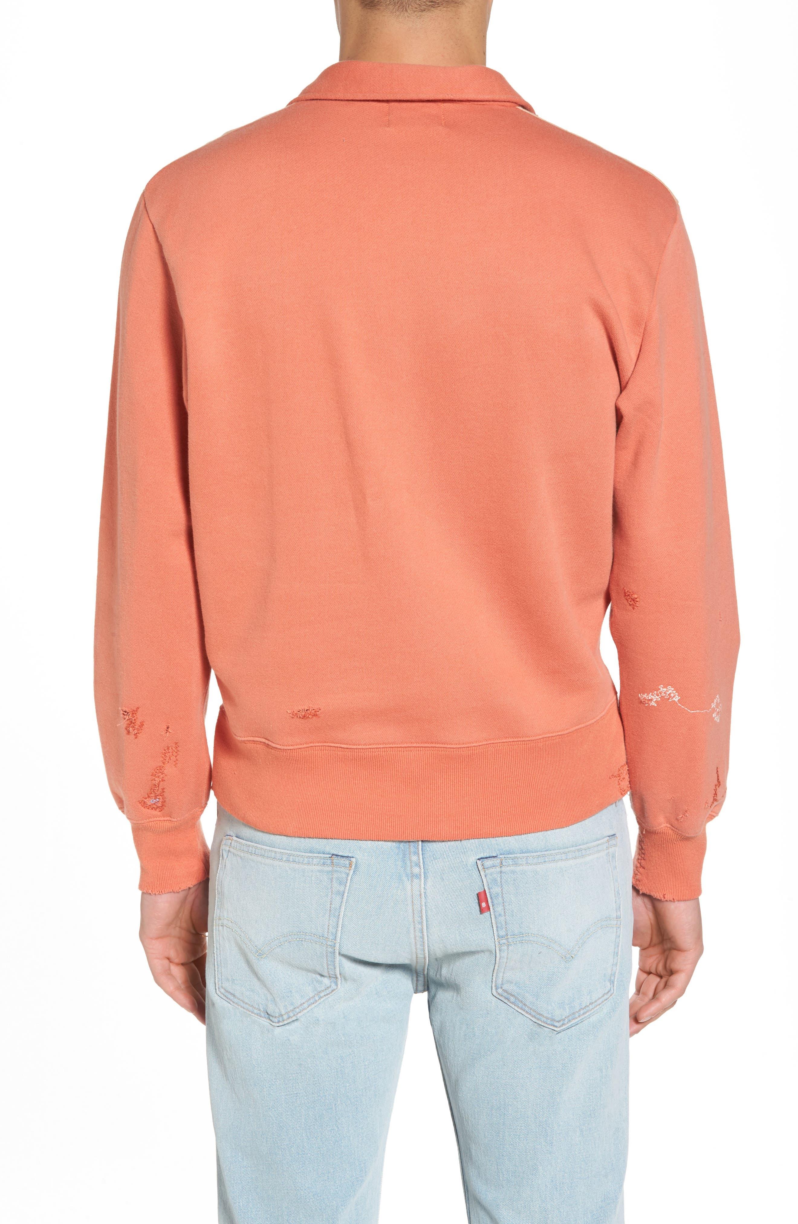 Alternate Image 2  - Levi's® Vintage Clothing Colorblocked Quarter Zip Pullover