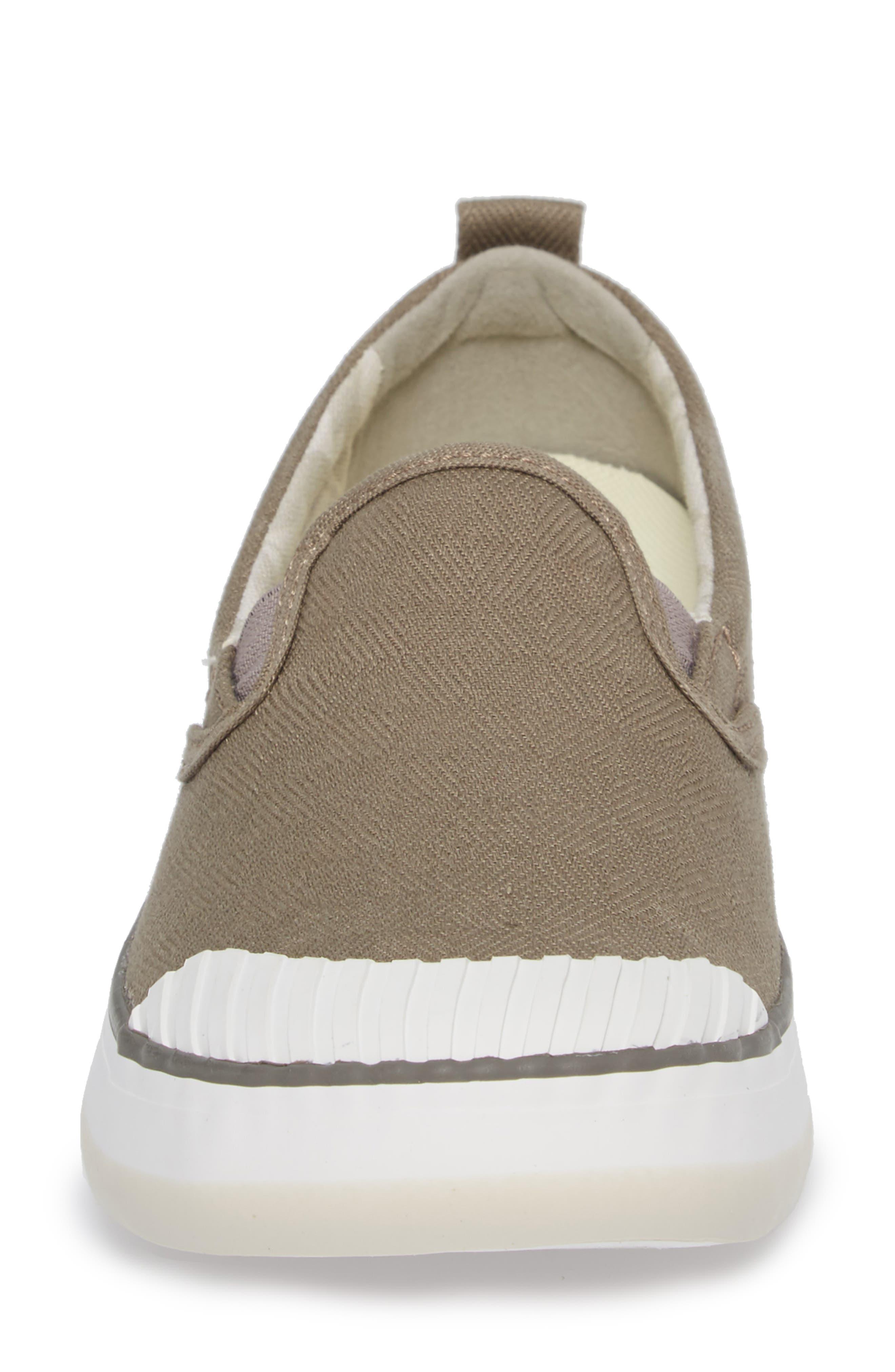 Elsa Slip-On Sneaker,                             Alternate thumbnail 4, color,                             Brindle