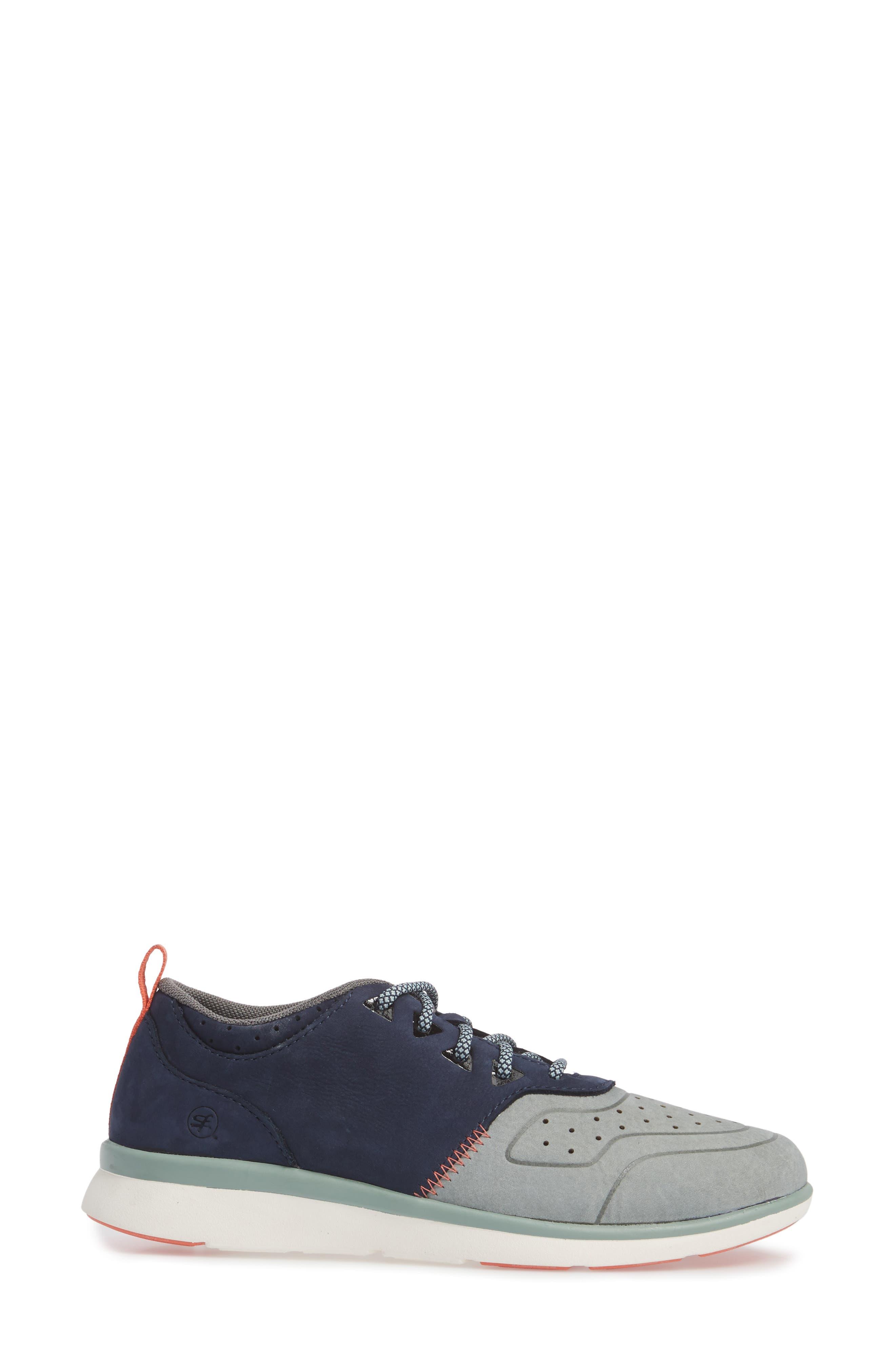 Beech Sneaker,                             Alternate thumbnail 3, color,                             Blue Leather