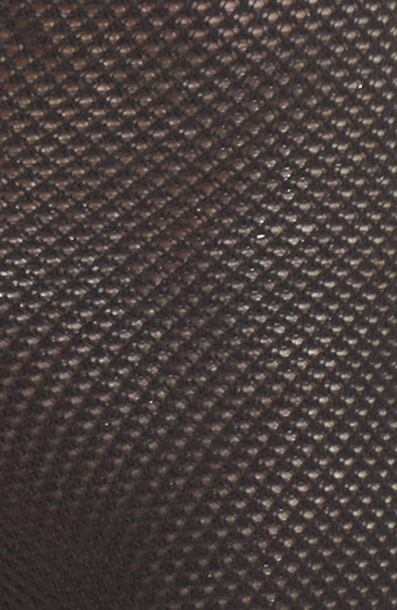 Stripe Mesh Ankle Socks,                             Alternate thumbnail 2, color,                             Black