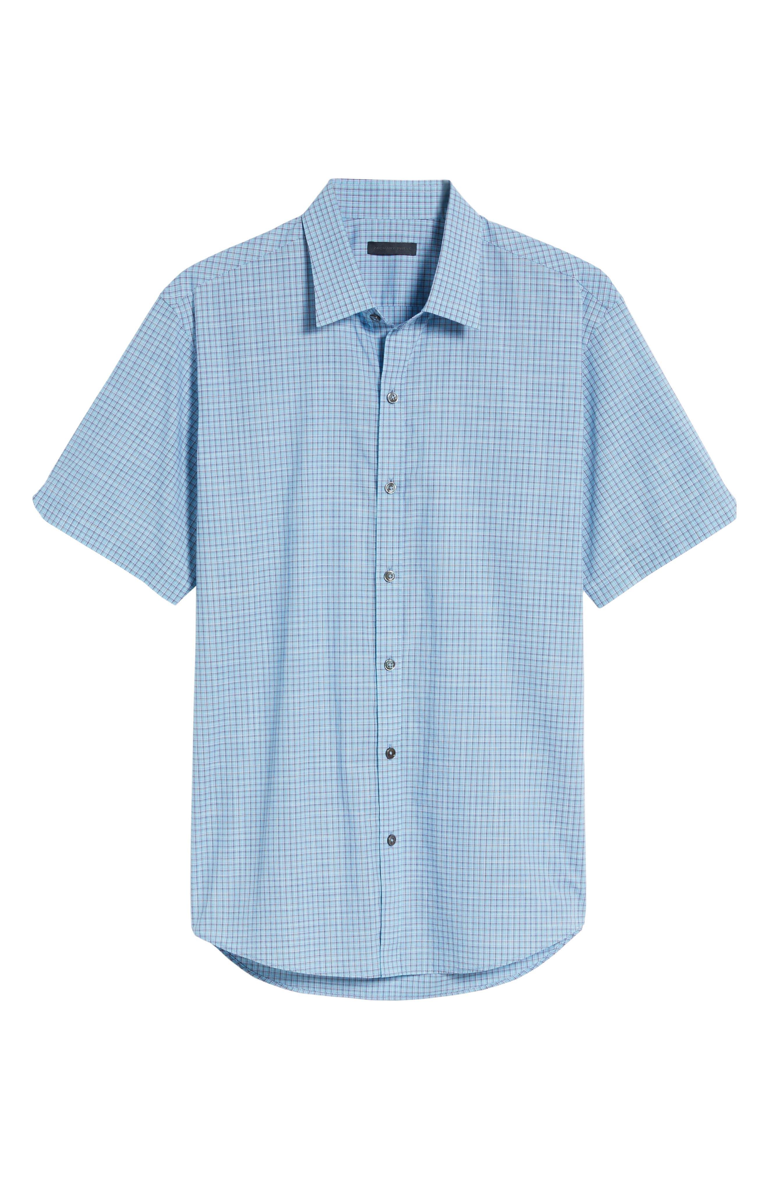 Dunleavy Check Sport Shirt,                             Alternate thumbnail 6, color,                             Blue