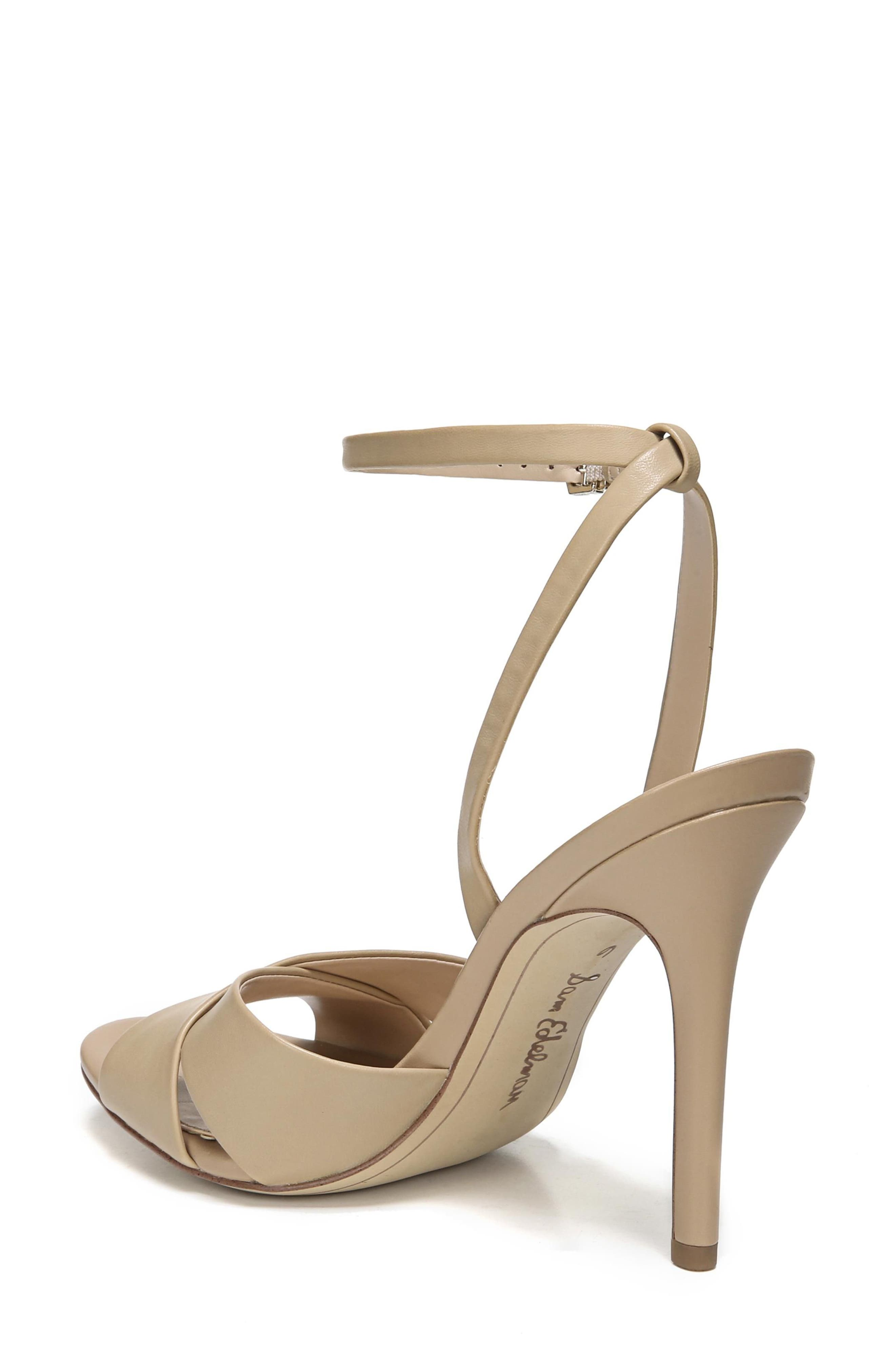 Aly Ankle Strap Sandal,                             Alternate thumbnail 2, color,                             Classic Nude Leather