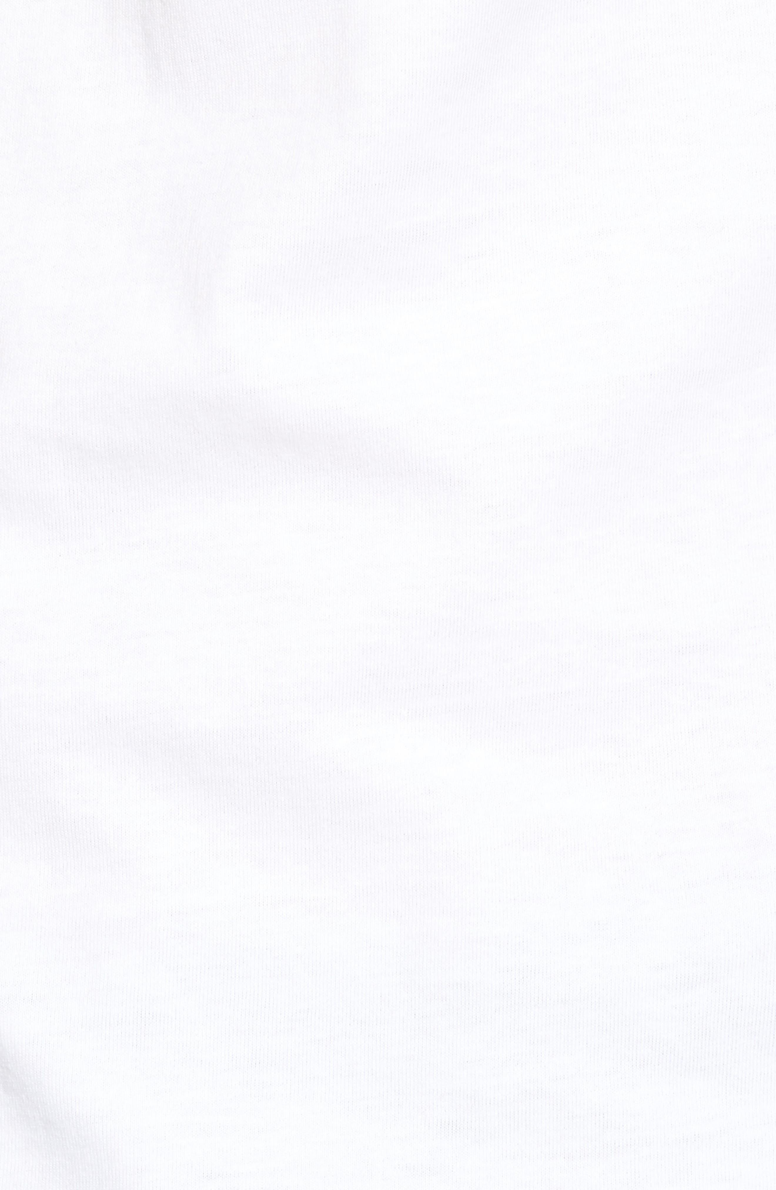 Max Peace Pizza Graphic T-Shirt,                             Alternate thumbnail 5, color,                             White