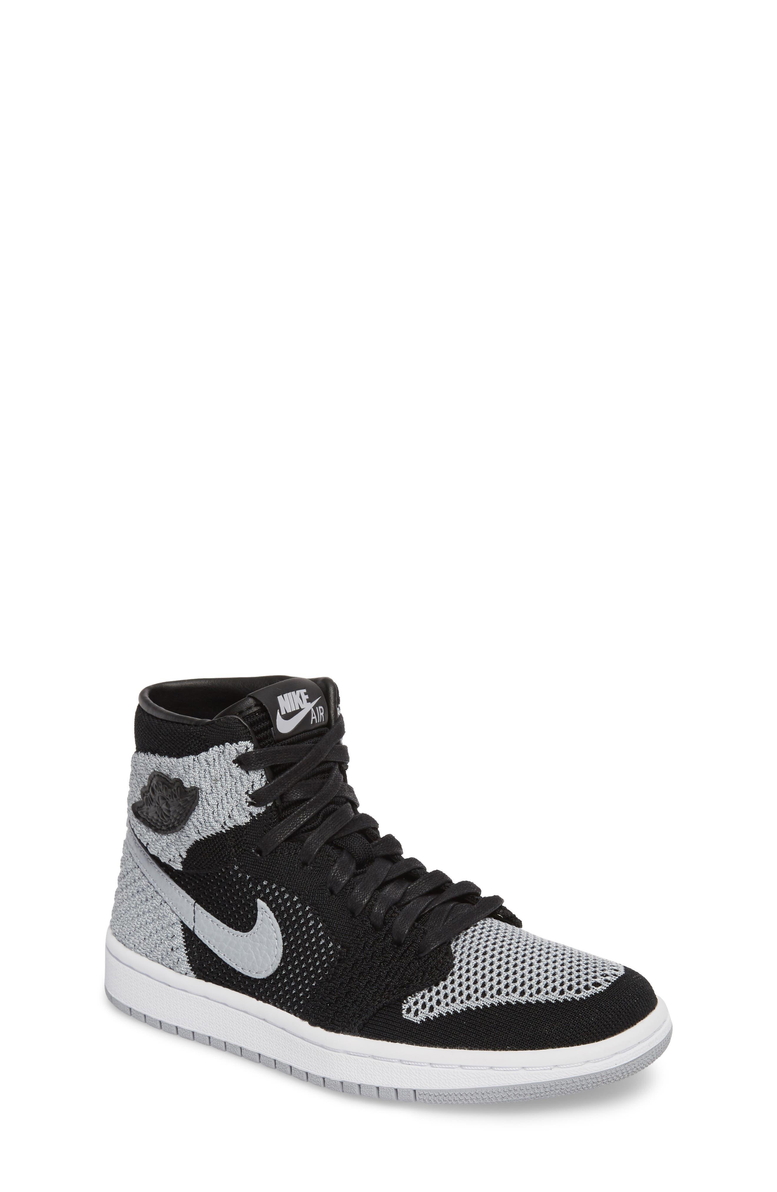 Nike Air Jordan 1 Retro High Flyknit Sneaker (Big Kid)