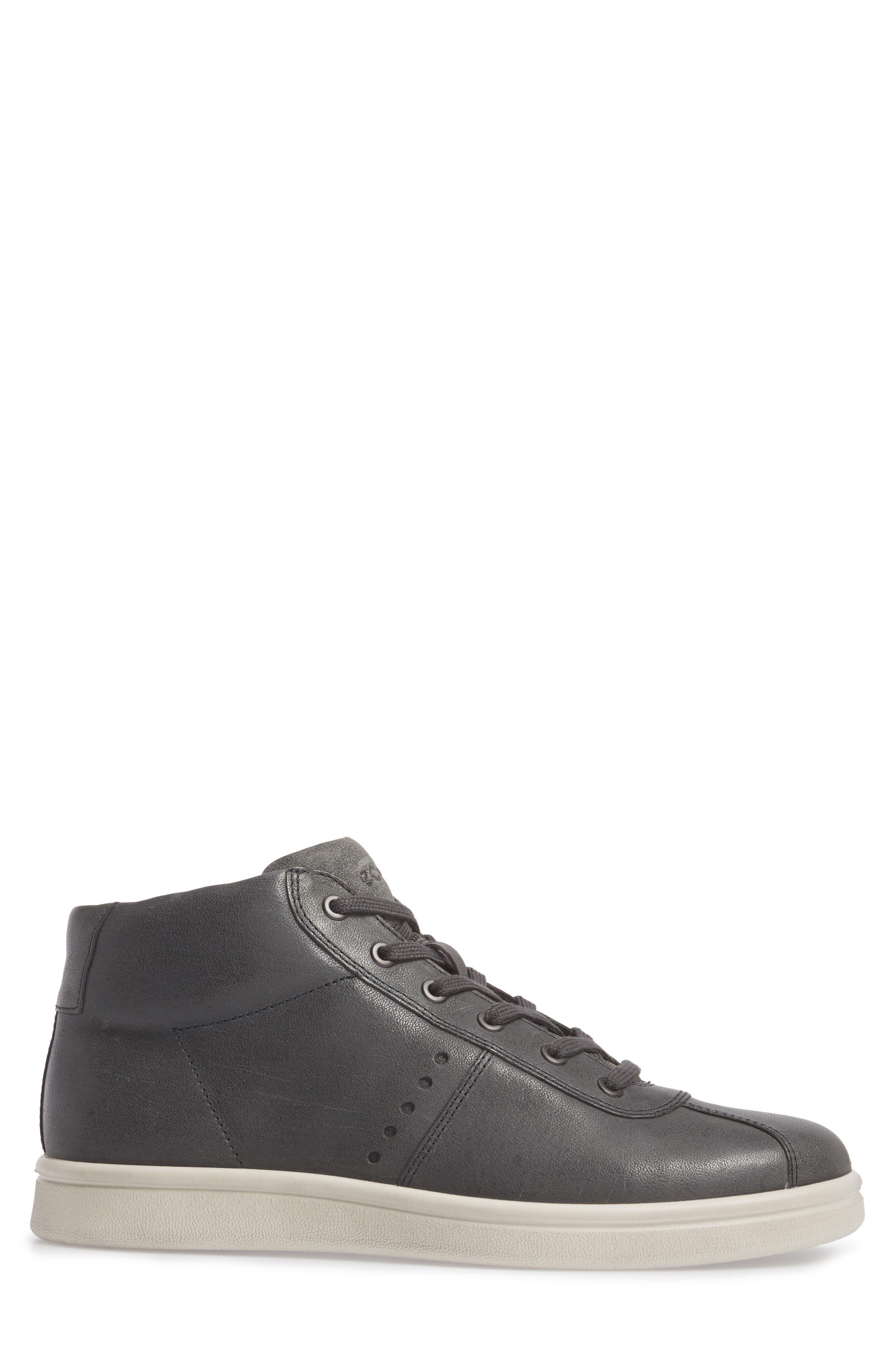 Kallum High Top Sneaker,                             Alternate thumbnail 3, color,                             Moonless Leather