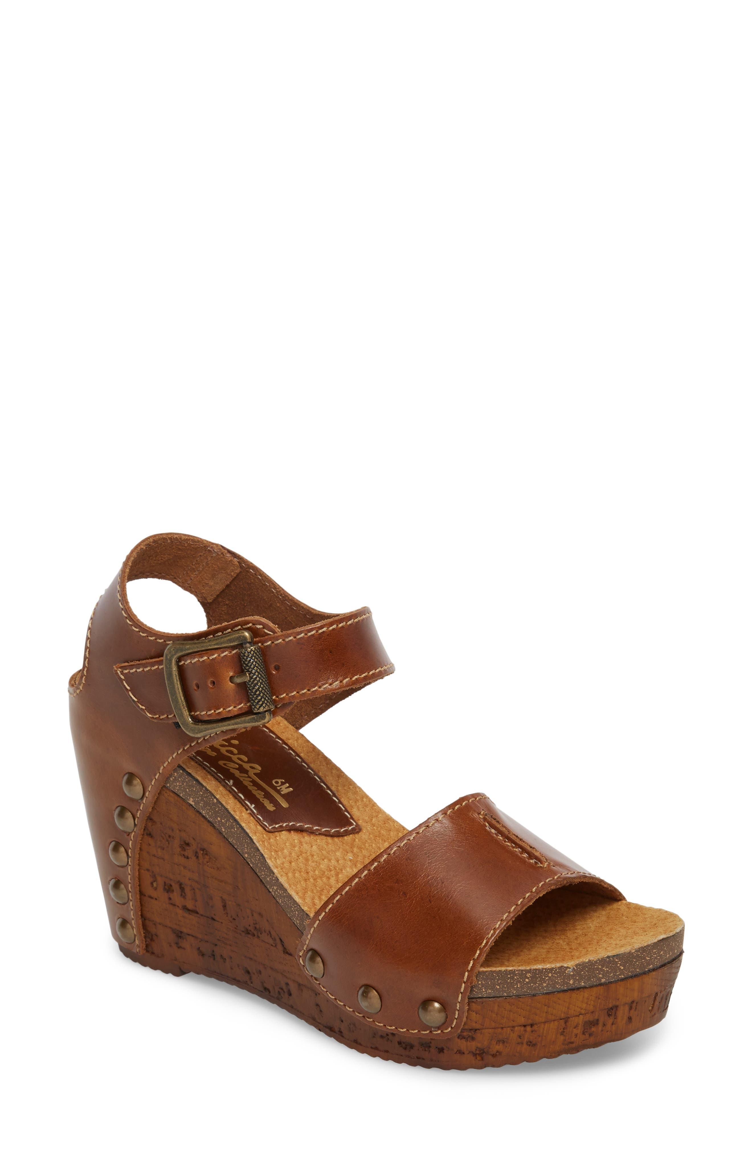 Main Image - Sbicca Brella Studded Platform Wedge Sandal (Women)