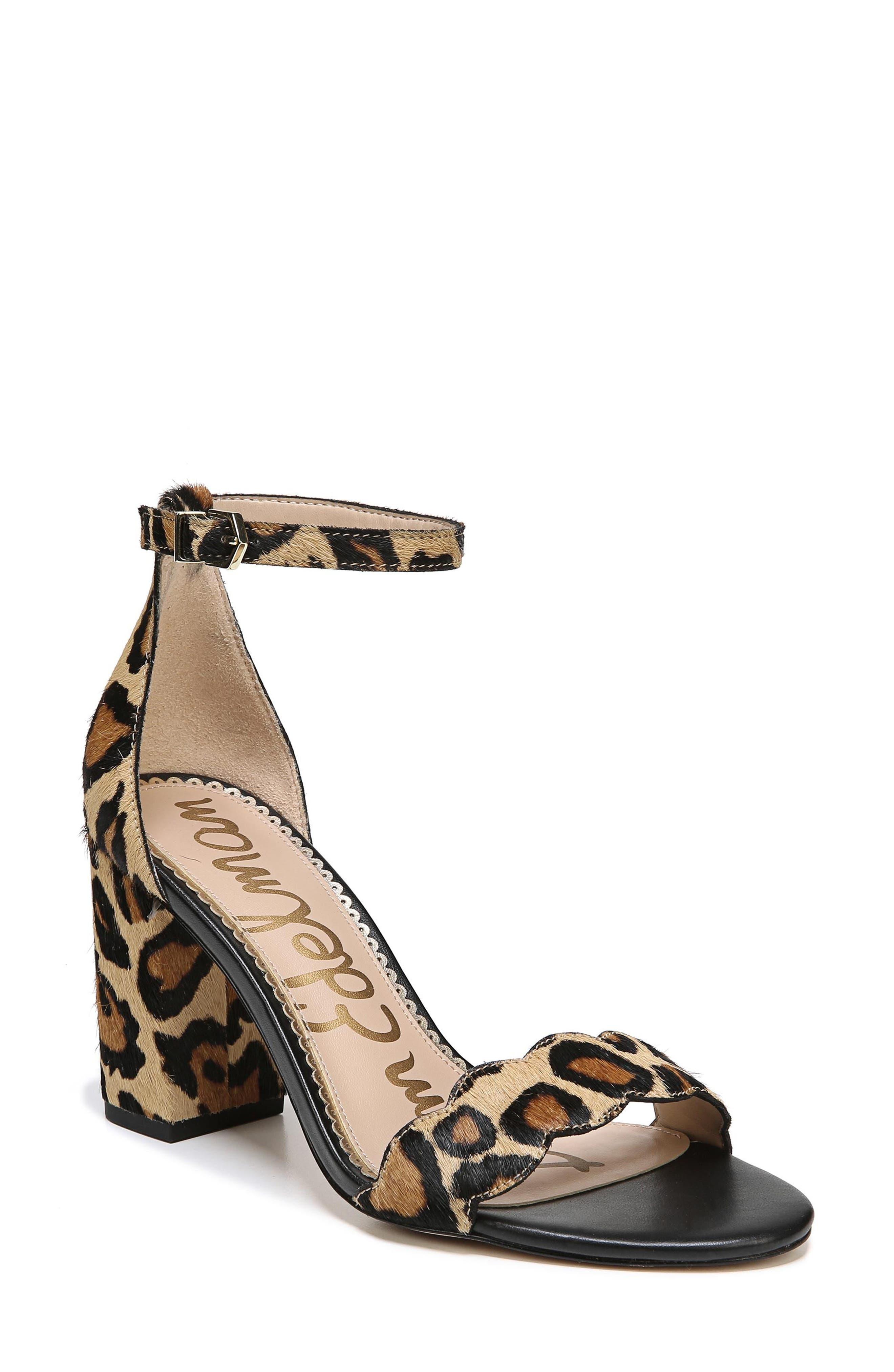 Odila Genuine Calf Hair Sandal,                         Main,                         color, New Nude Leopard Calf Hair