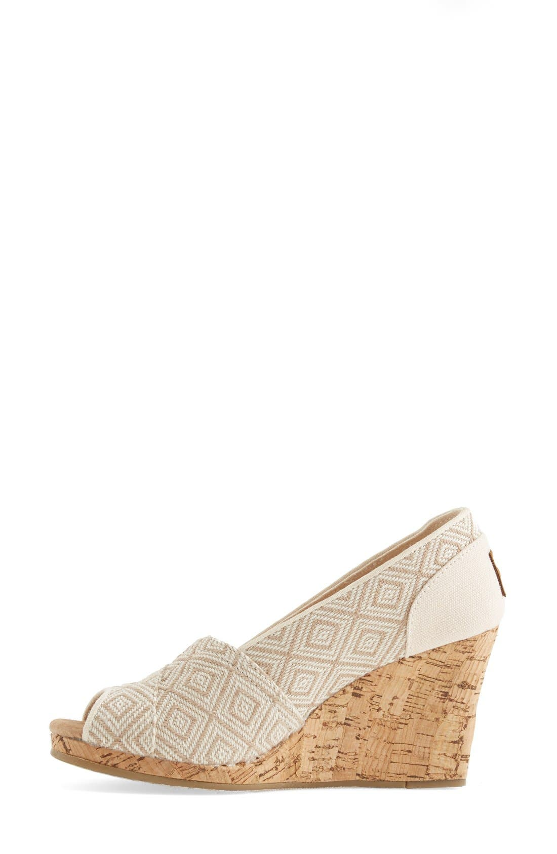Alternate Image 6  - TOMS 'Classic' Woven Wedge Sandal (Women)