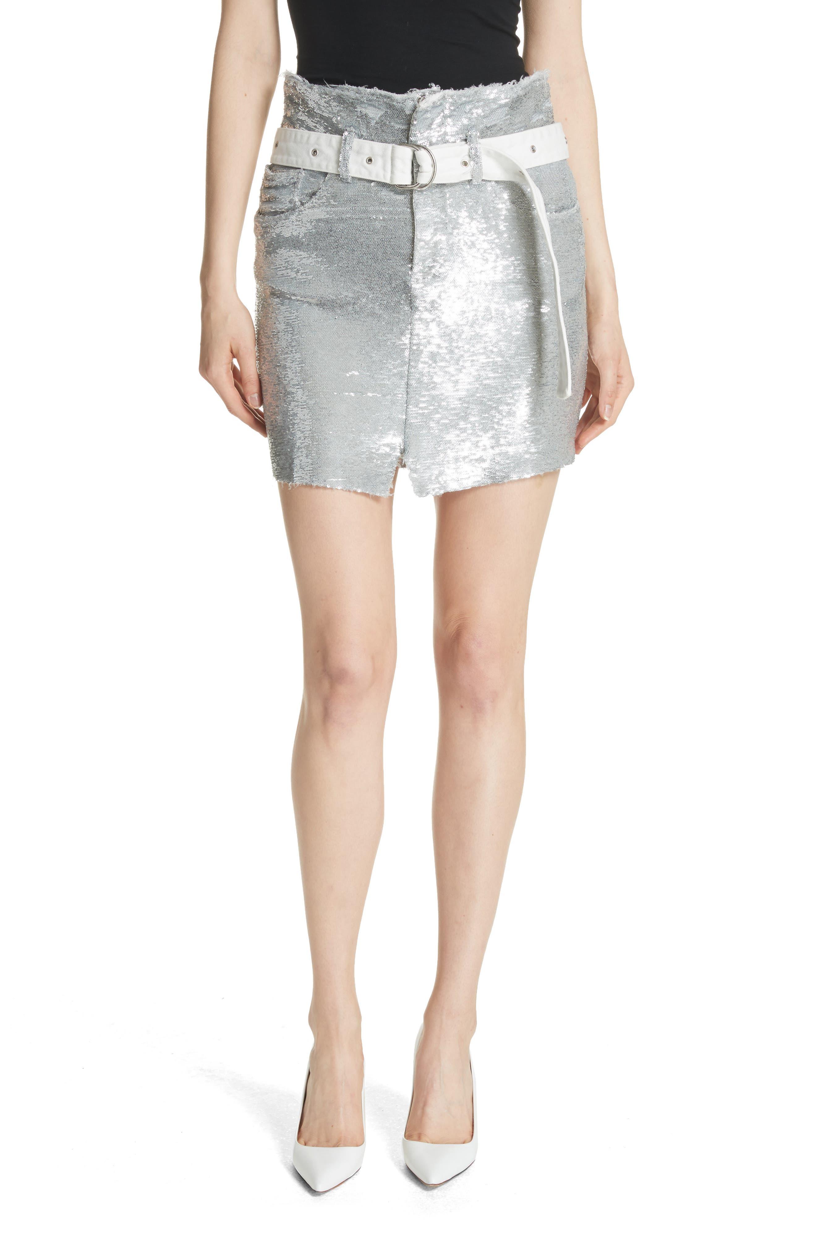 IRO Natou Belted Sequin Miniskirt