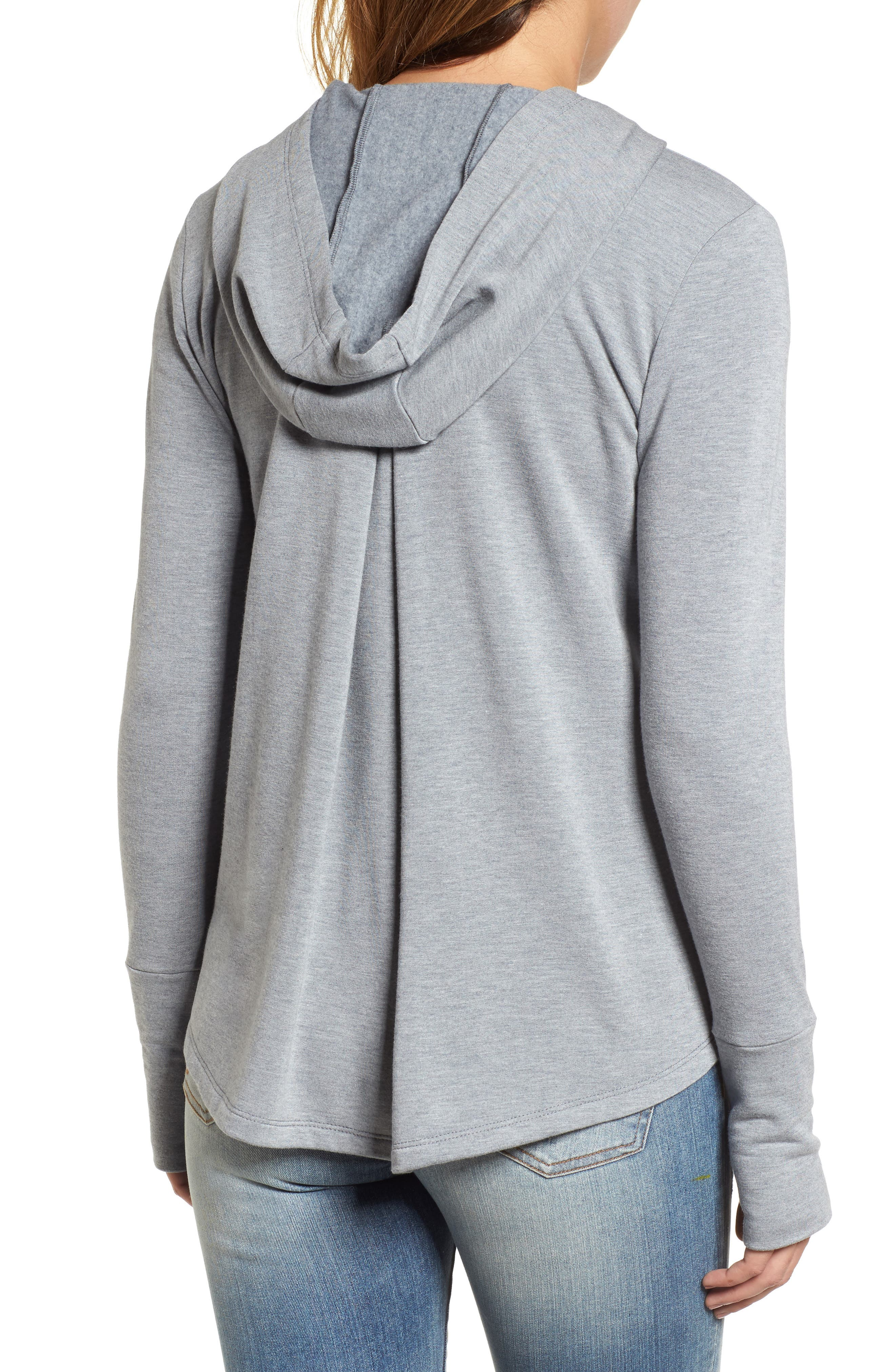 Off-Duty Zip Front Hooded Jacket,                             Alternate thumbnail 2, color,                             Grey