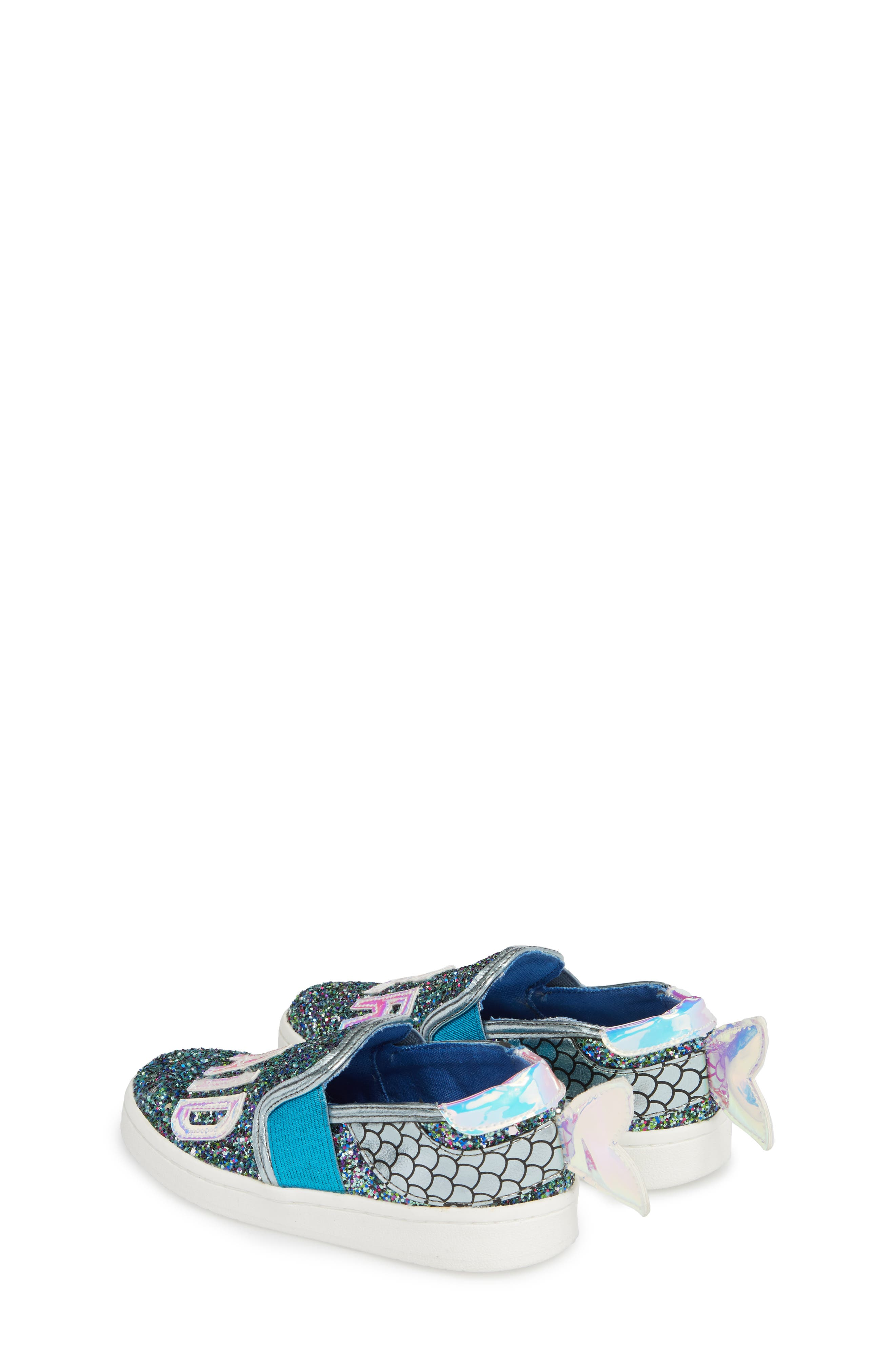 Blane Slip-On Sneaker,                             Alternate thumbnail 2, color,                             Blue Glitter