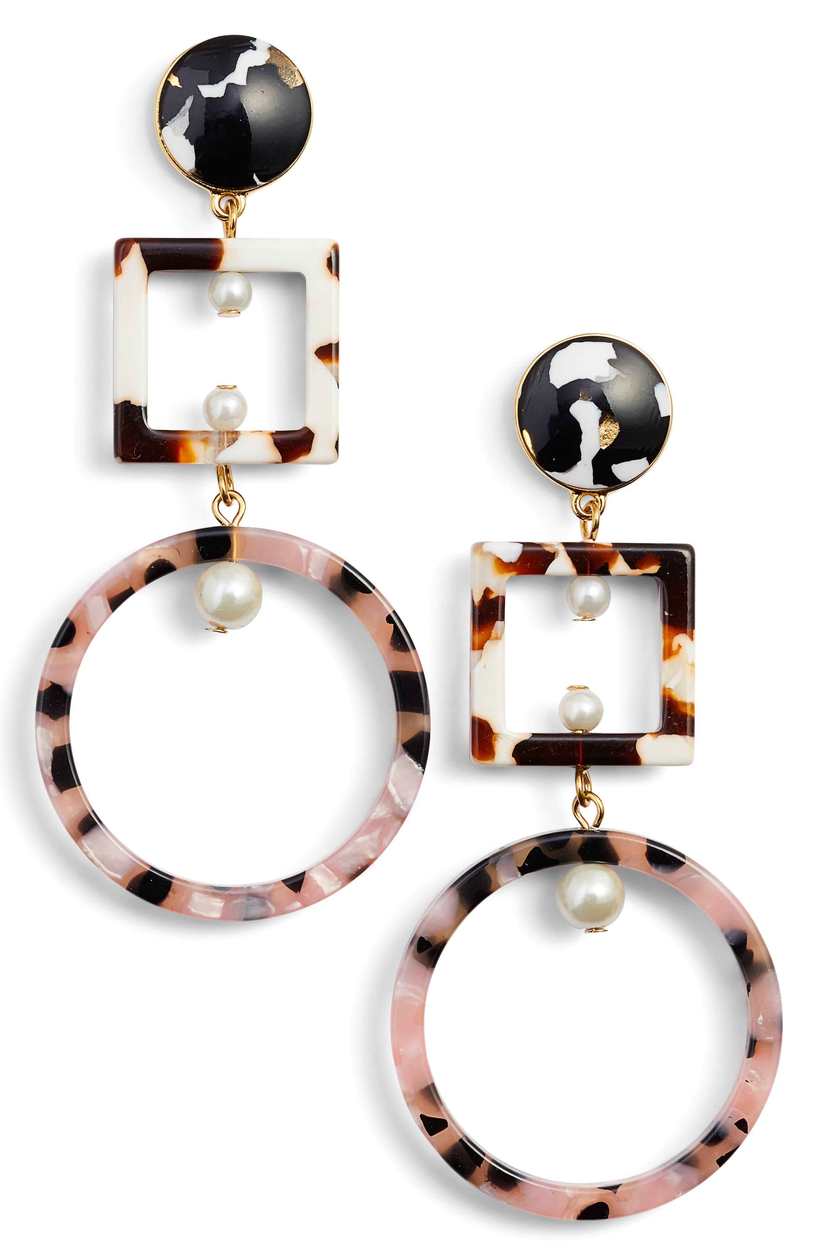 Lele Sadoughi Geometric Cage Drop Earrings 85lerqYDV
